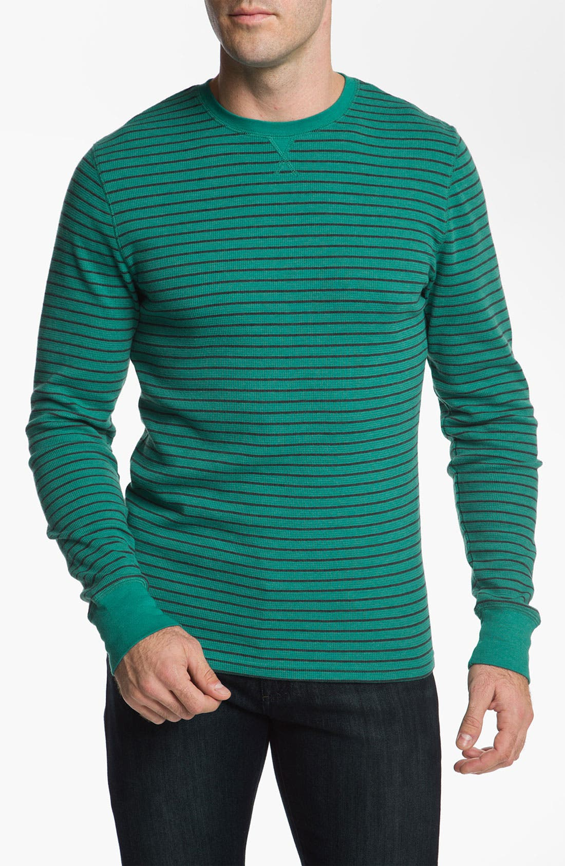 Alternate Image 1 Selected - The Rail by Public Opinion Stripe Thermal Shirt