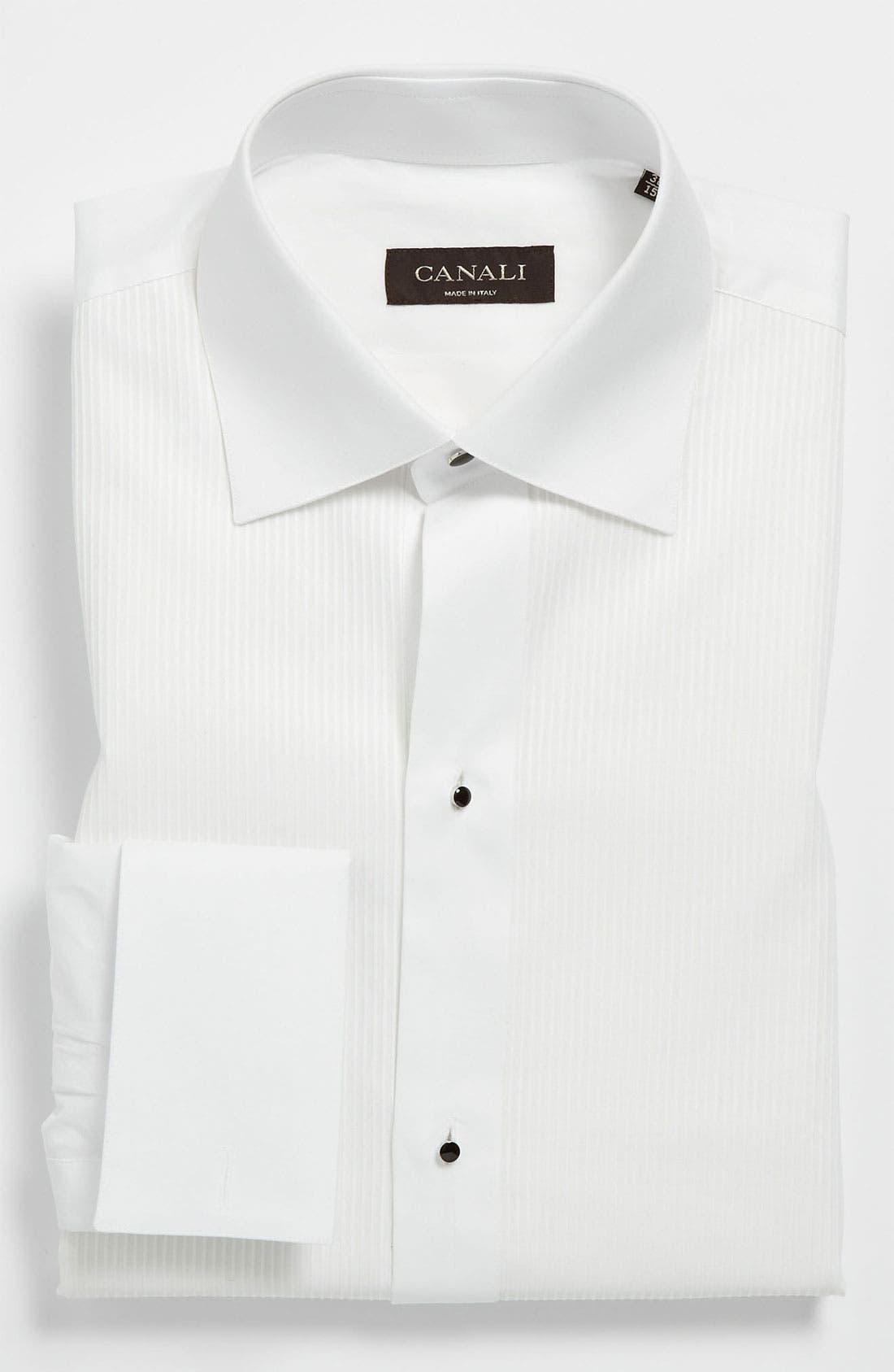 Alternate Image 1 Selected - Canali Regular Fit Tuxedo Shirt