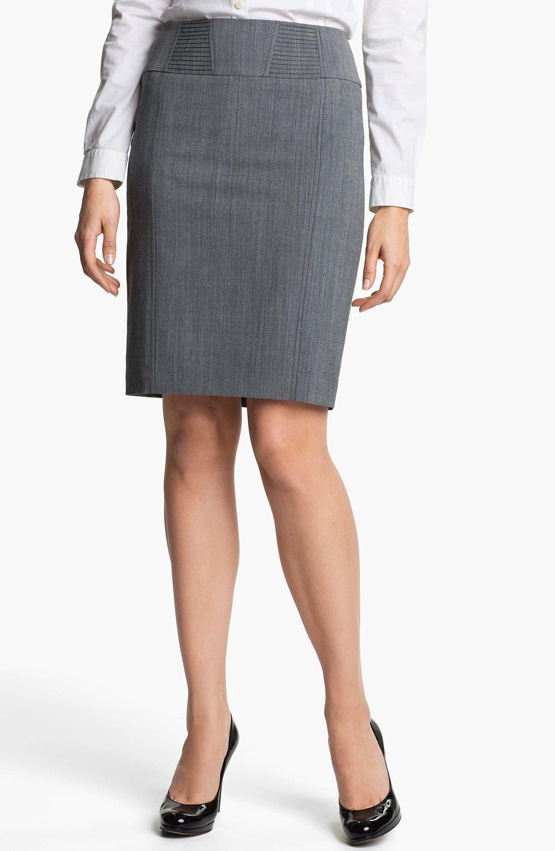 Alternate Image 1 Selected - Halogen® Cross Dye Pencil Skirt