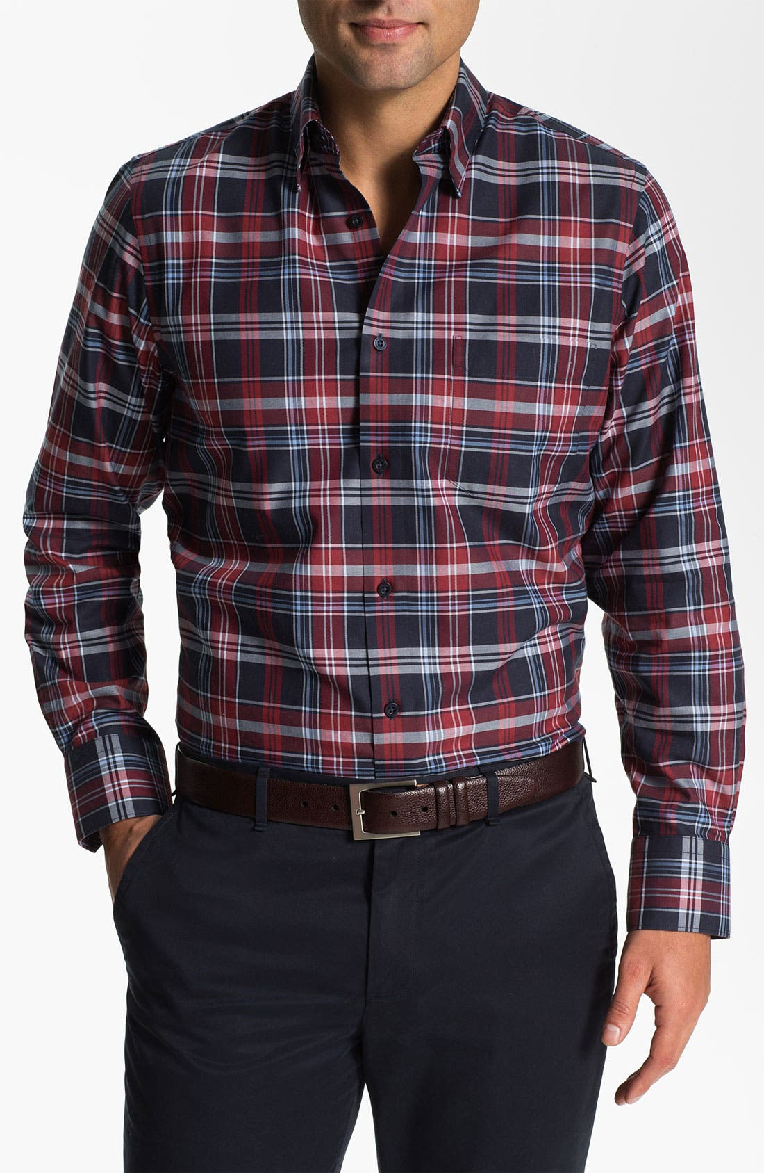 Alternate Image 1 Selected - Nordstrom Regular Fit Twill Sport Shirt