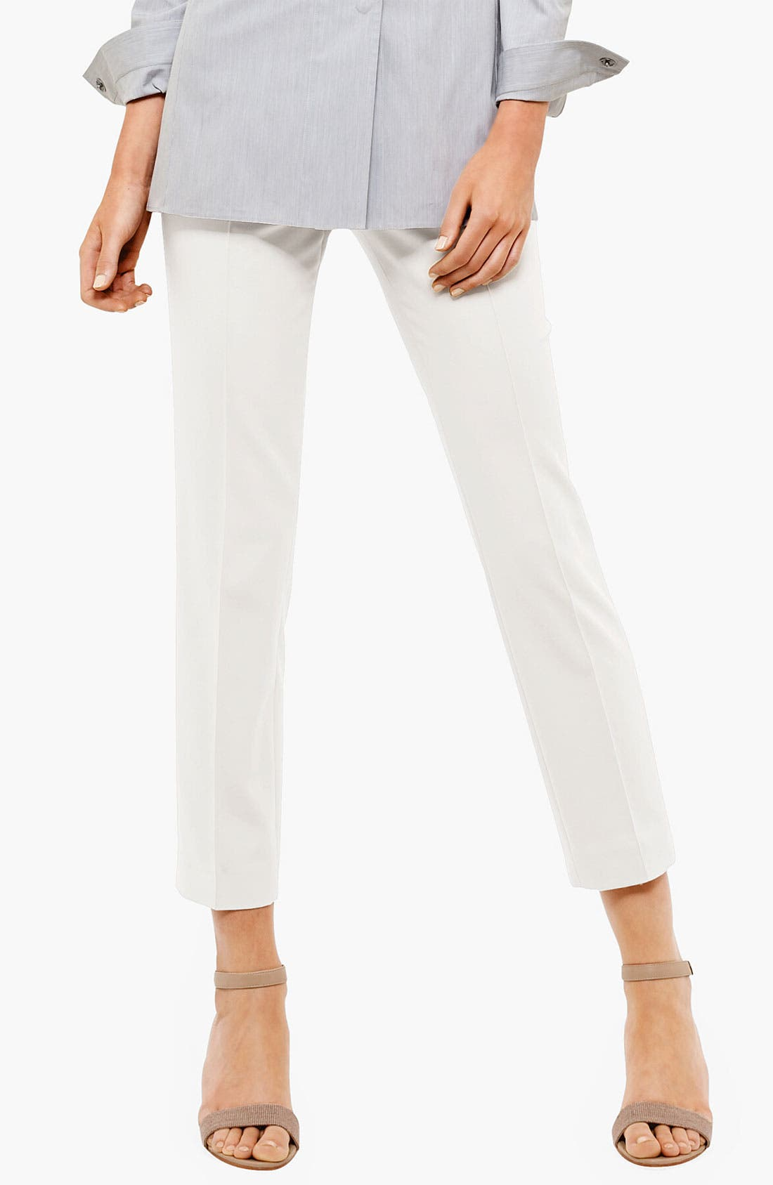 Alternate Image 1 Selected - Akris punto 'Franca' Jersey Crop Pants