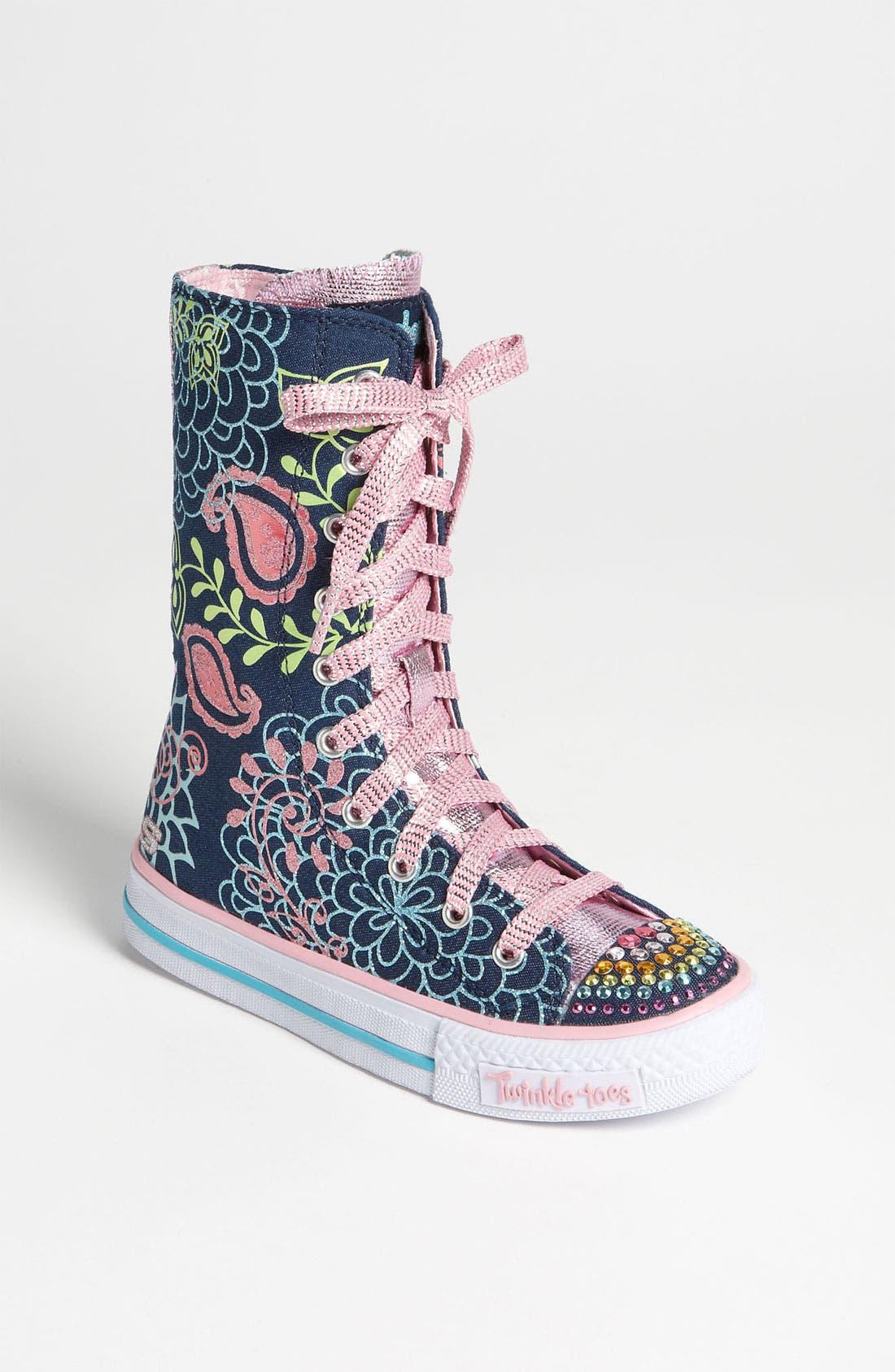 Main Image - SKECHERS 'Twinkle Toes - Shuffles Lucky Kisses' Sneaker (Toddler, Little Kid & Big Kid)