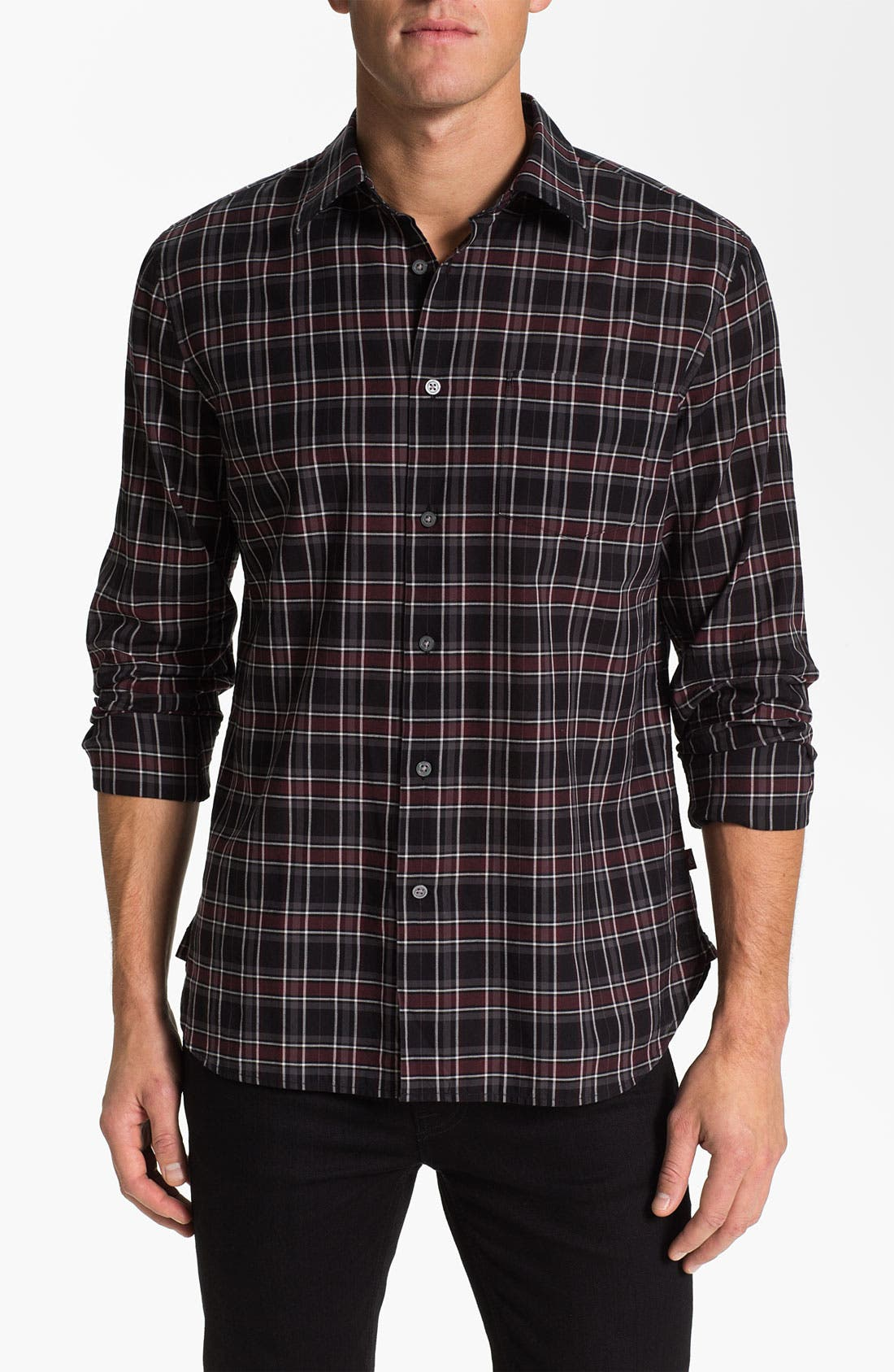 Alternate Image 1 Selected - John Varvatos Star USA Trim Fit Sport Shirt