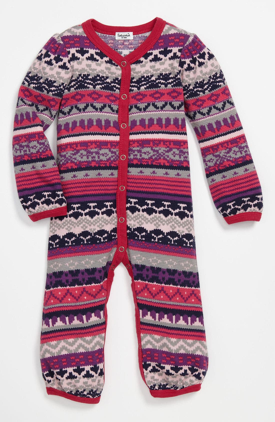 Alternate Image 1 Selected - Splendid 'Breckenridge' Thermal Romper (Infant)