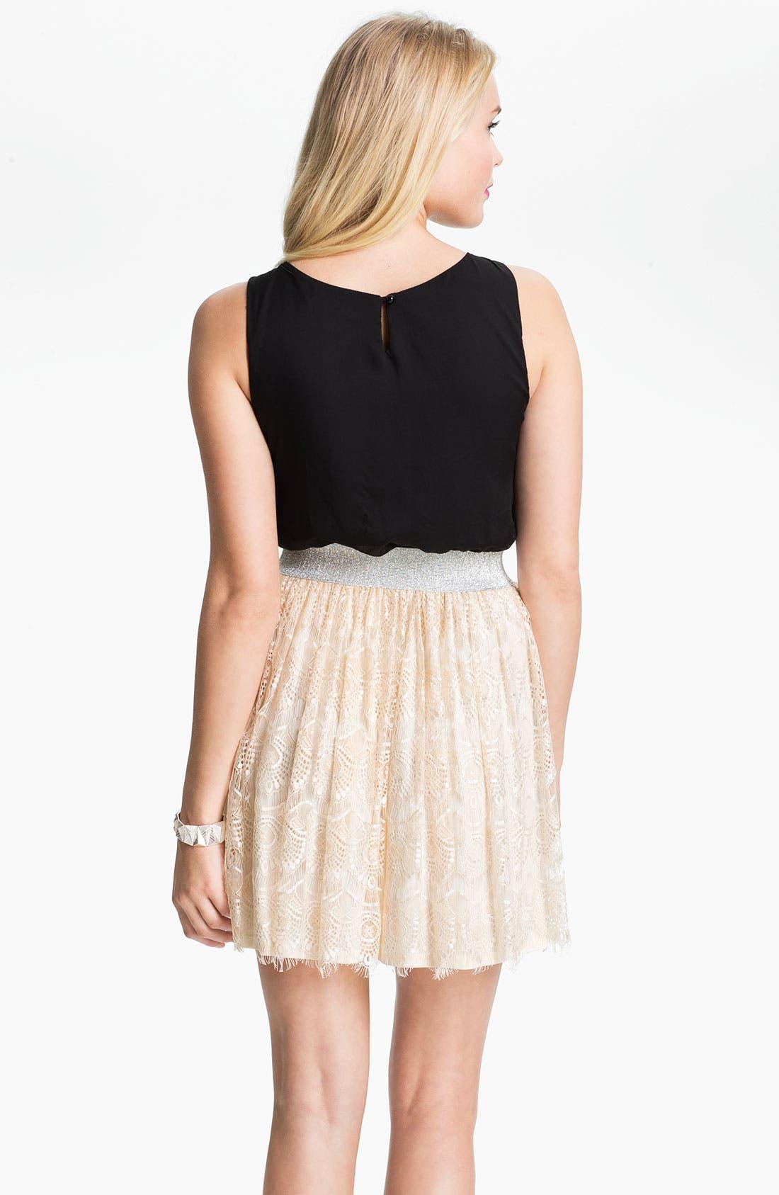 Alternate Image 2  - As U Wish Lace Skirt Tank Dress (Juniors)
