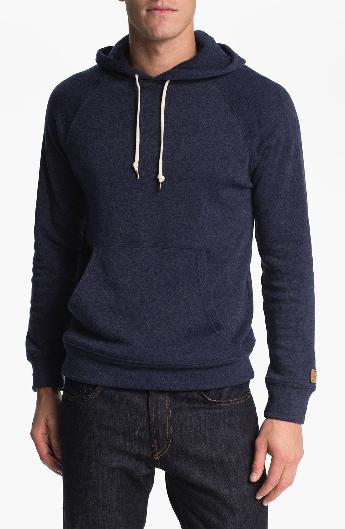 'Lofty Creature Comforts' Hooded Sweatshirt,                             Main thumbnail 1, color,                             Heather Indigo