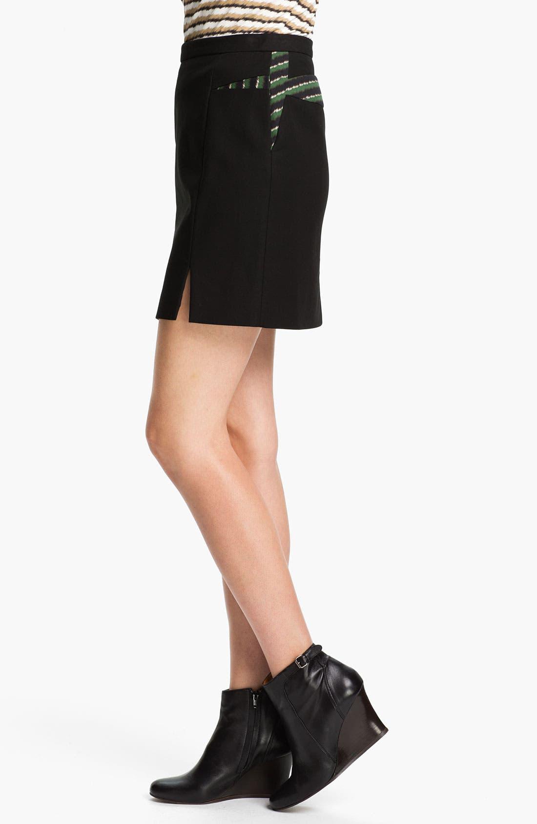 Alternate Image 3  - KENZO Inverted Print Panel Skirt
