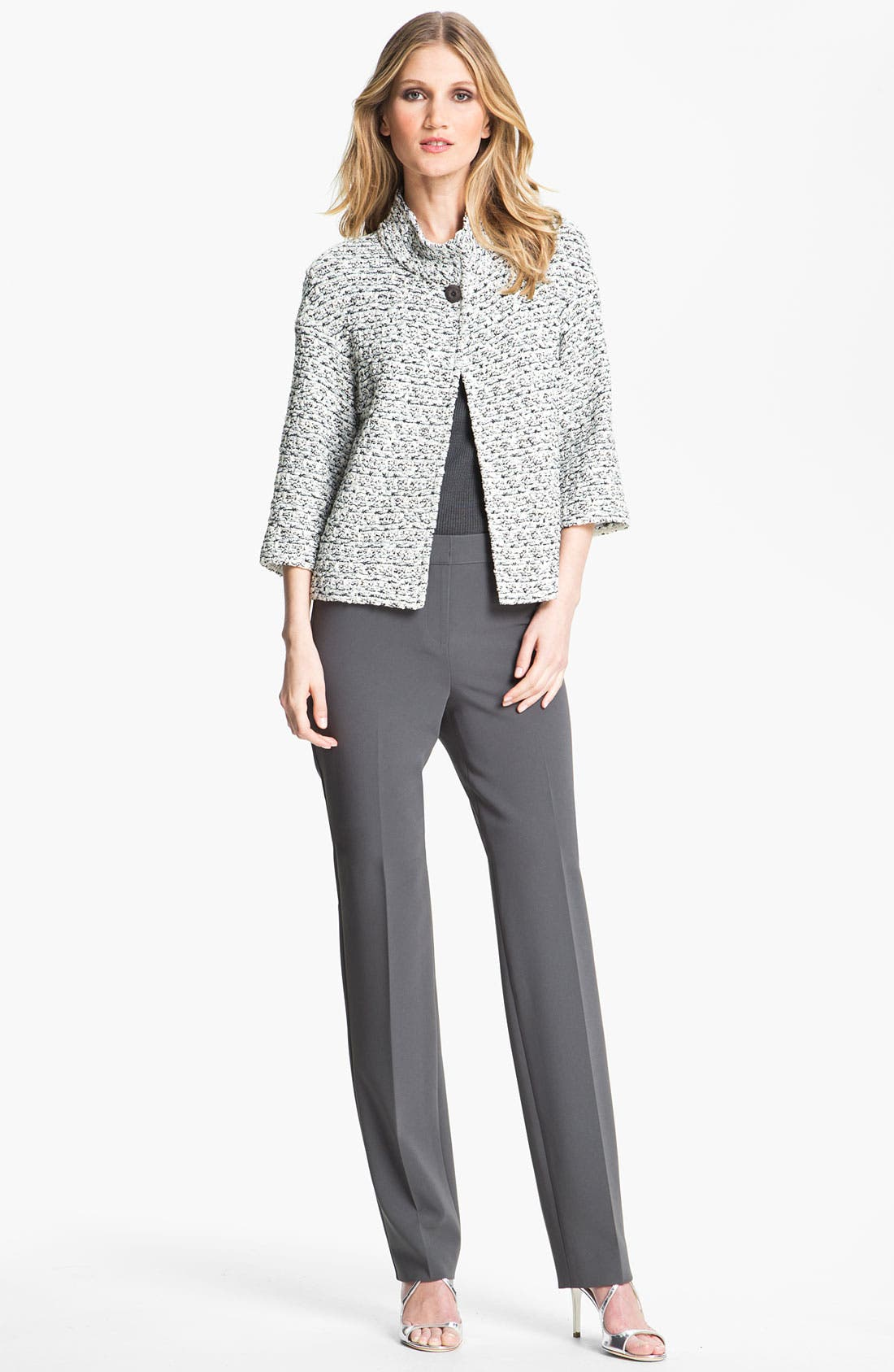 Main Image - St. John Collection Organza Tape Tweed Knit Jacket