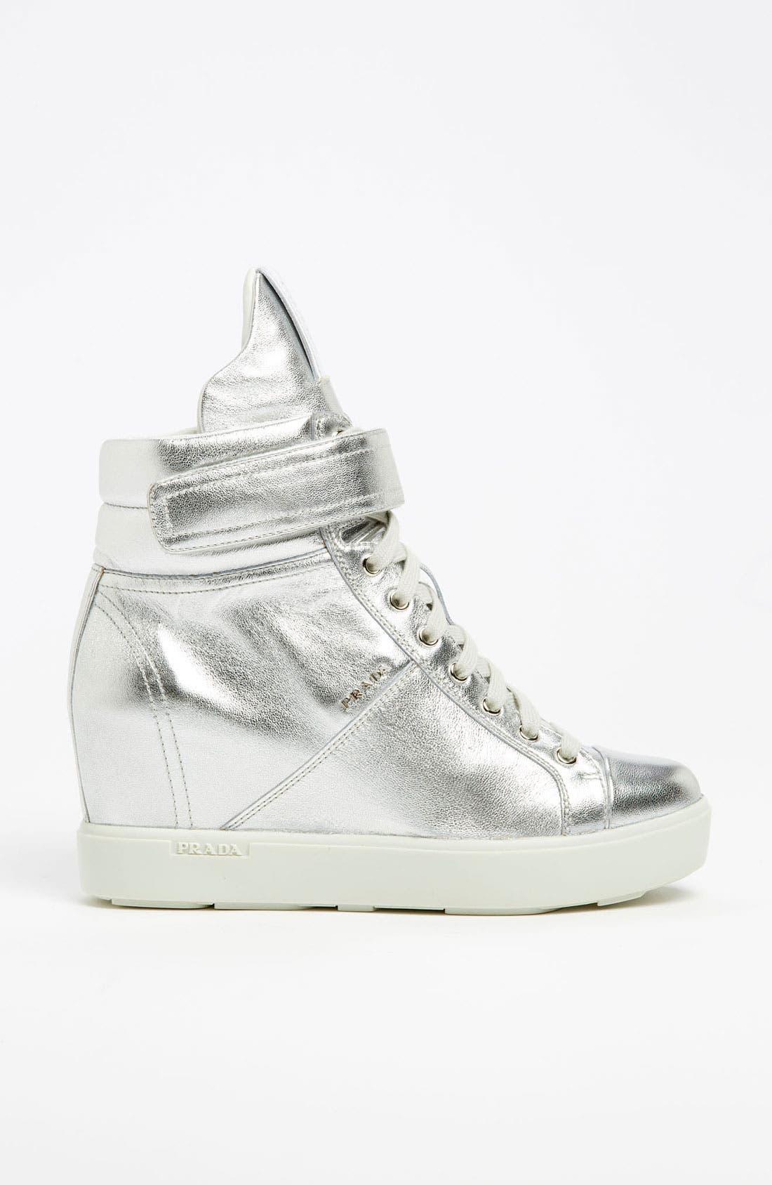 Alternate Image 4  - Prada Wedge Sneaker