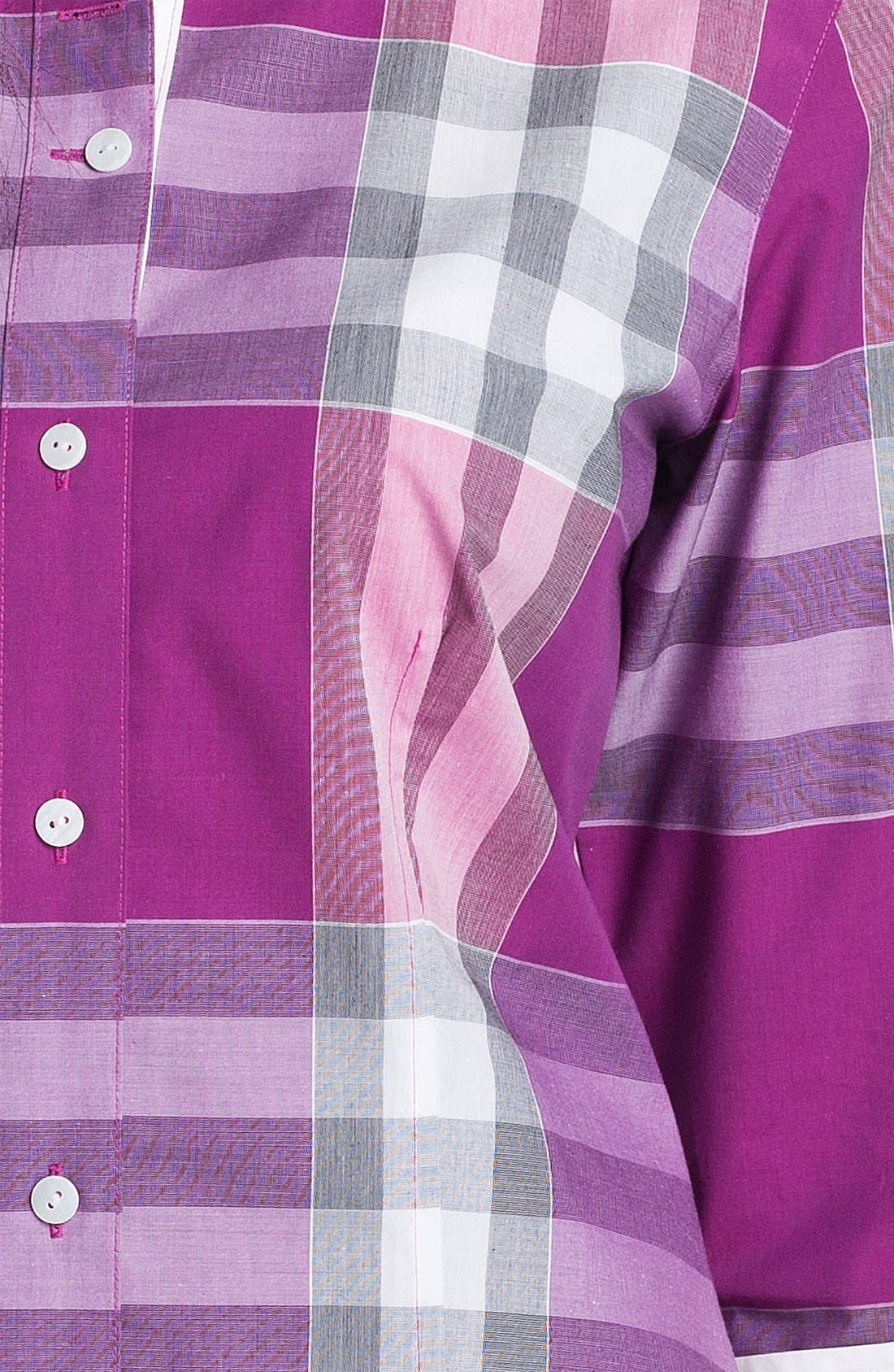 Alternate Image 3  - Foxcroft Three Quarter Sleeve Plaid Shirt