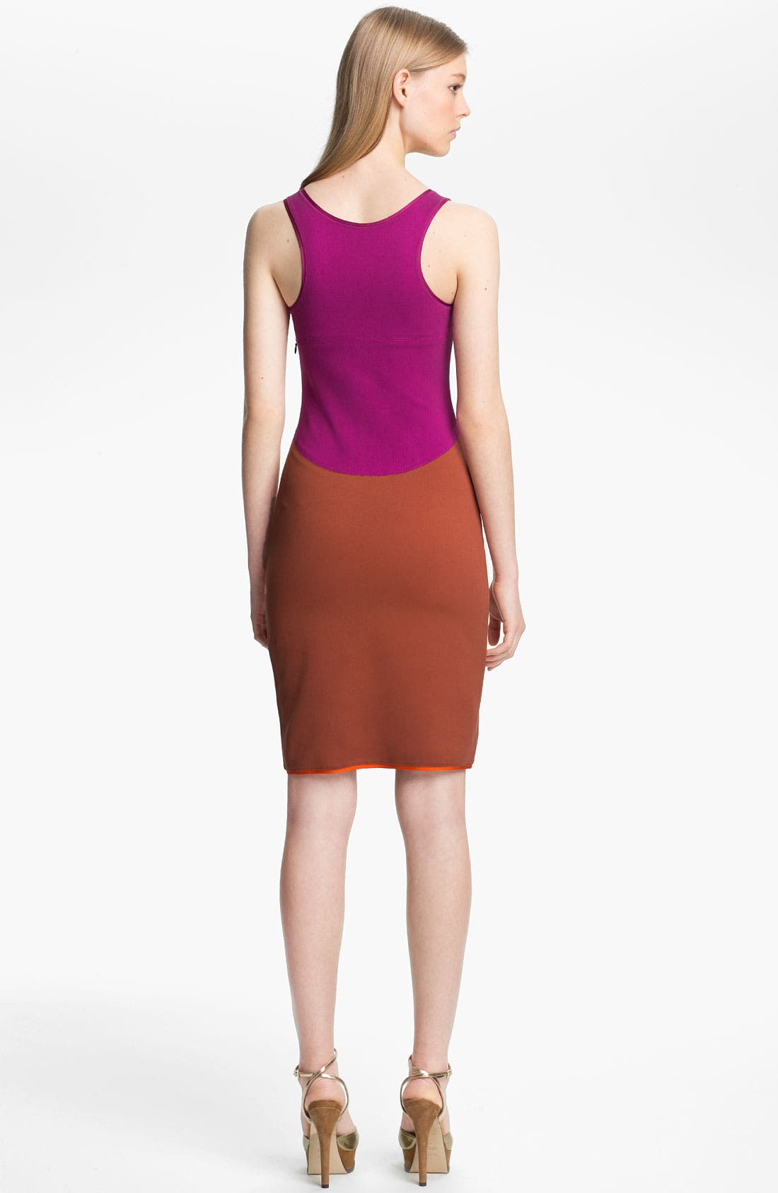 Alternate Image 2  - Halston Heritage Colorblock Ponte Tank Dress