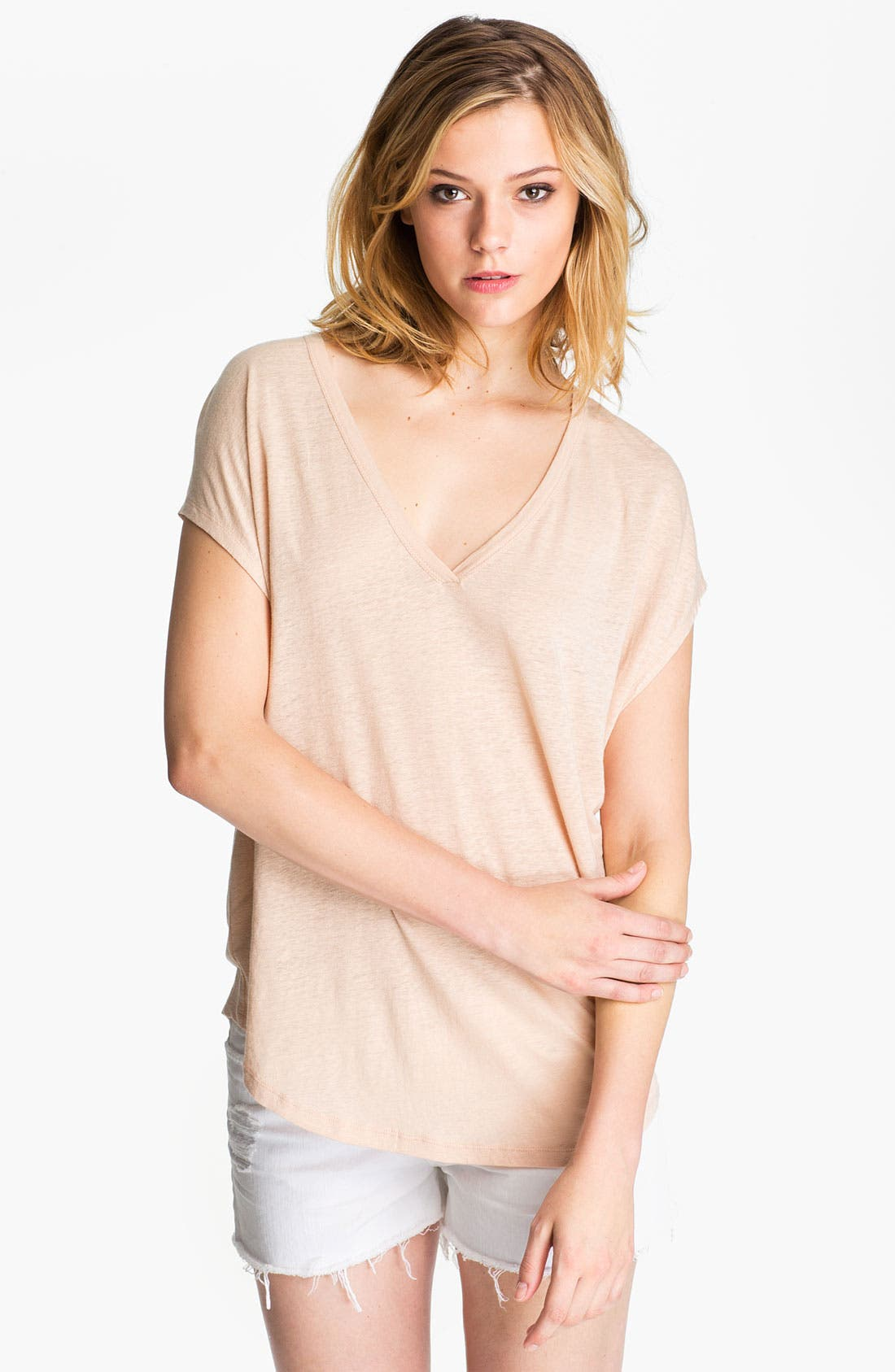 Alternate Image 1 Selected - Joie 'Hayes' Slubbed Linen Tee