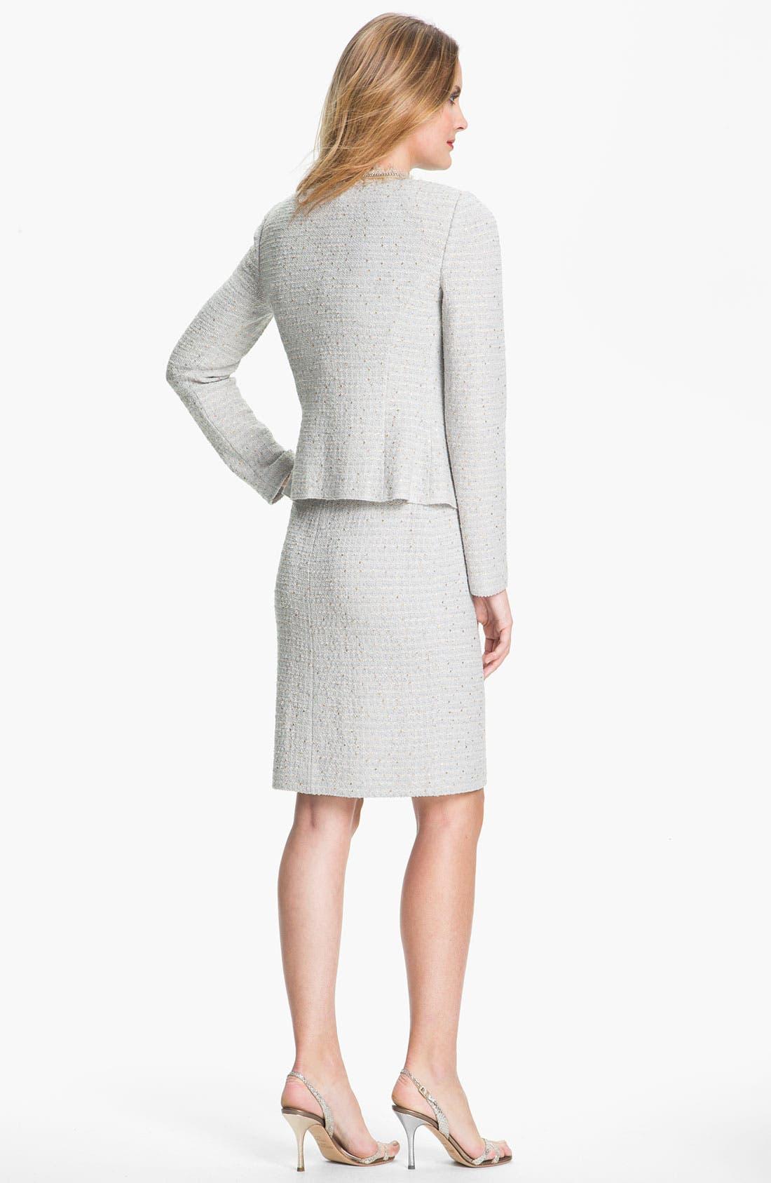 Alternate Image 4  - St. John Collection Sequin Tweed Knit Dress