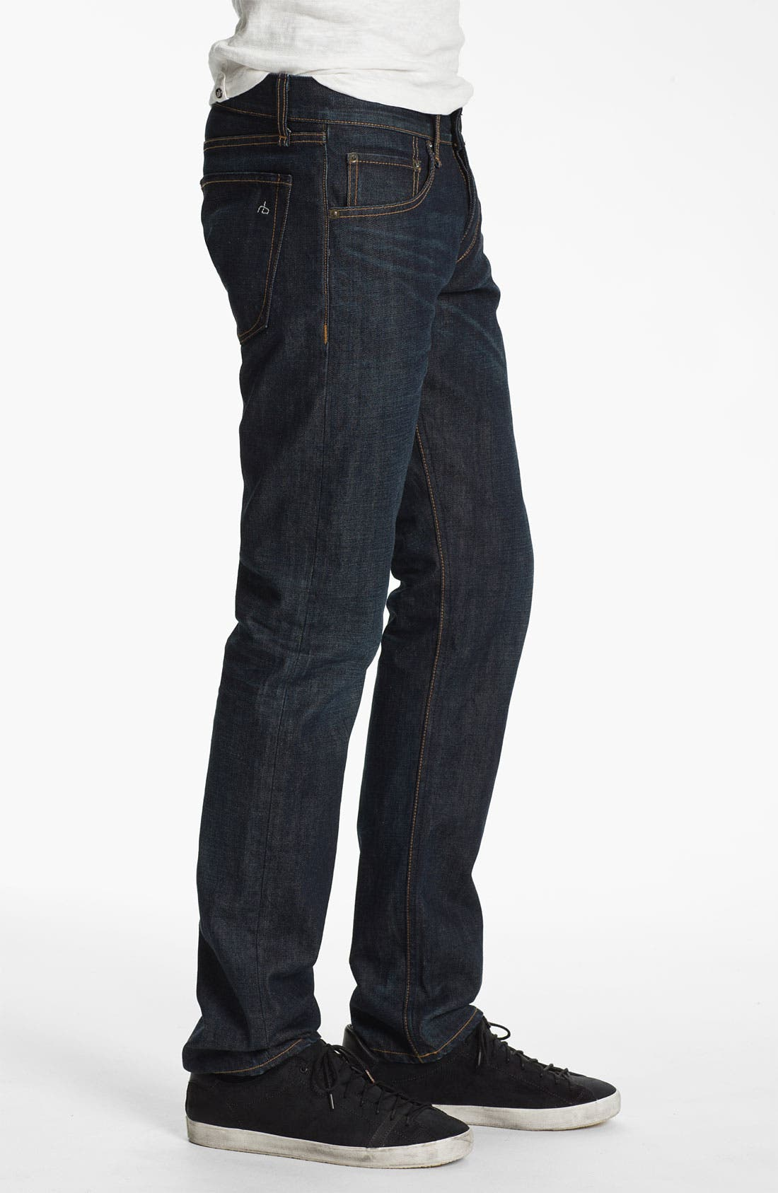Alternate Image 3  - rag & bone 'RB19X' Slim Straight Leg Jeans (Dover Blue)