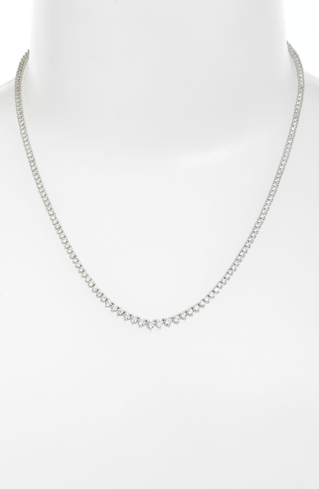 Alternate Image 1 Selected - Bony Levy 4.25ct tw Diamond Tennis Necklace (Nordstrom Exclusive)