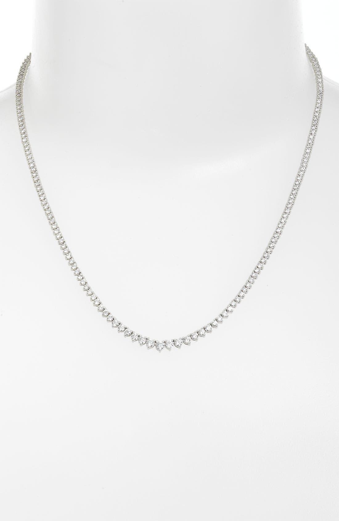 Main Image - Bony Levy 4.25ct tw Diamond Tennis Necklace (Nordstrom Exclusive)