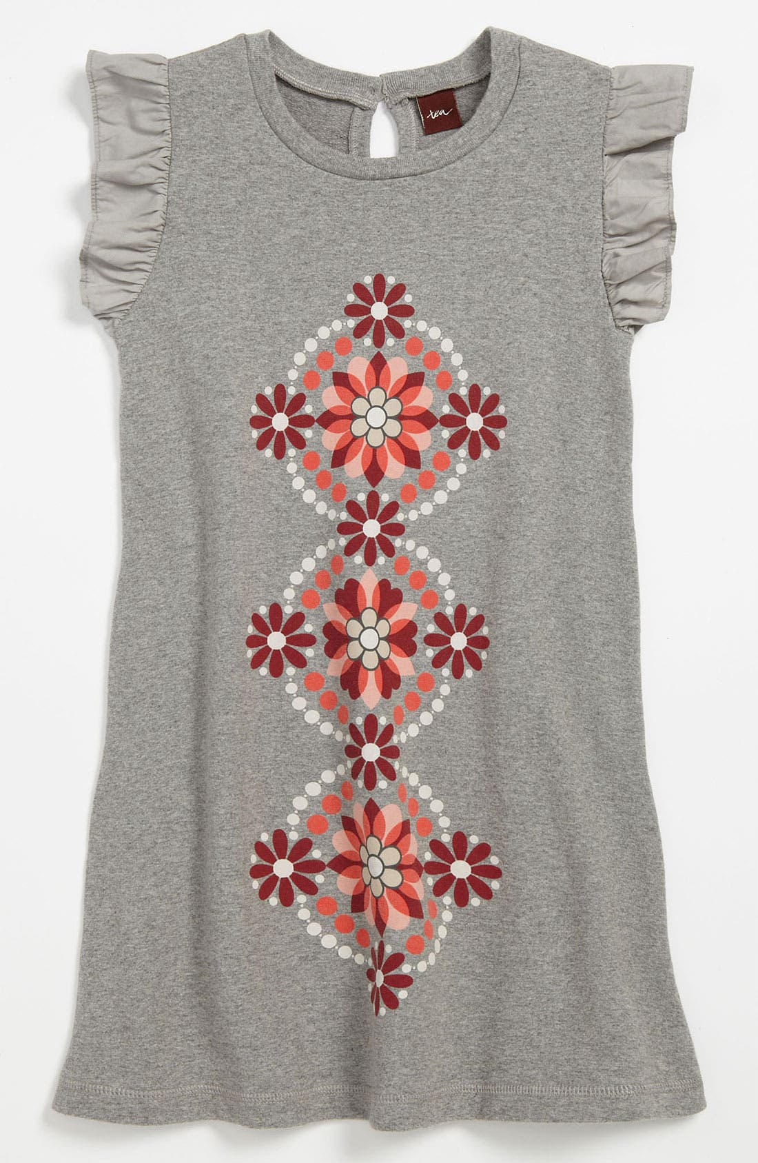 Alternate Image 1 Selected - Tea Collection Flutter Sleeve Dress (Little Girls & Big Girls)