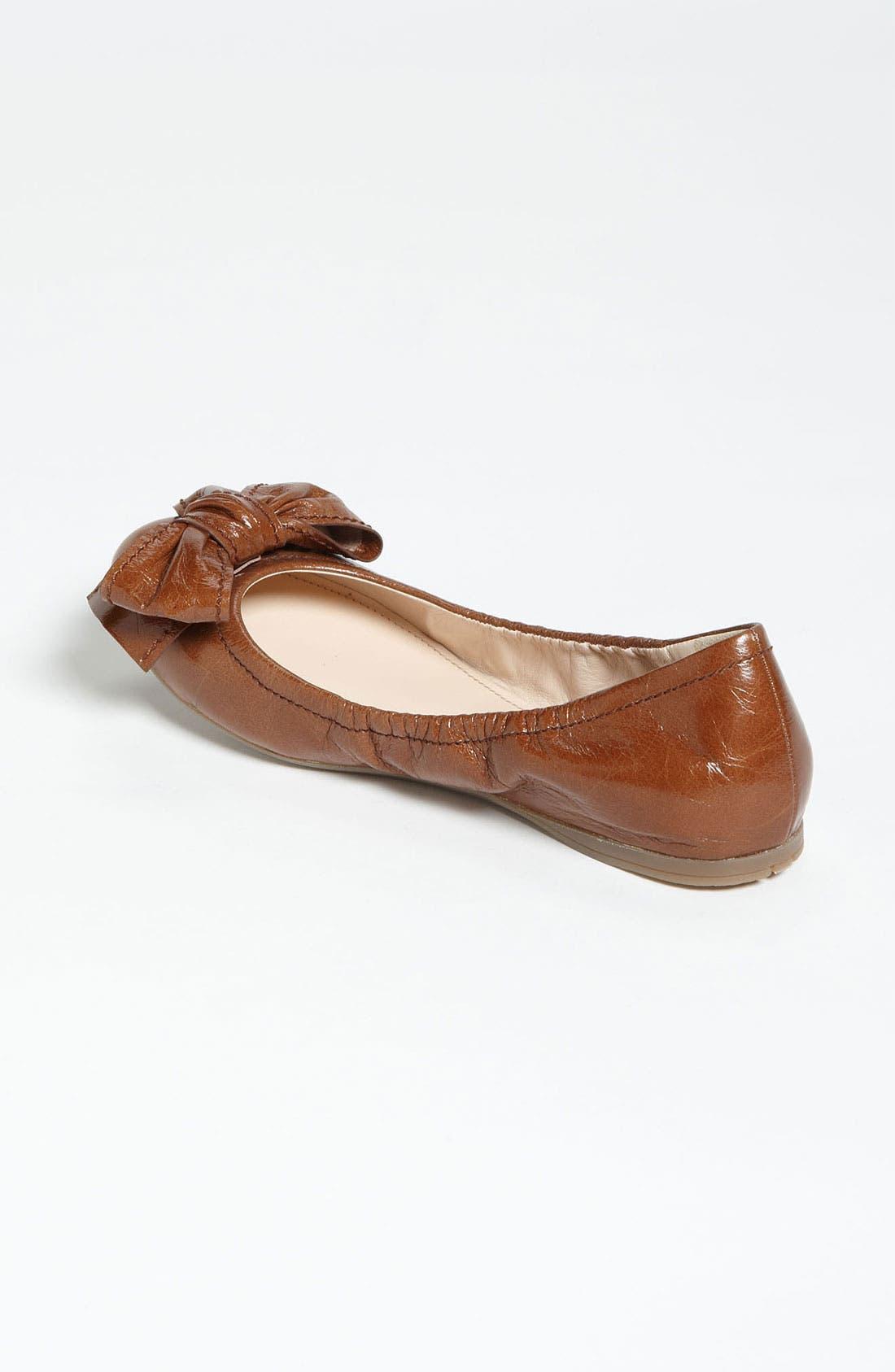 Alternate Image 2  - Prada Stitched Bow Ballet Flat