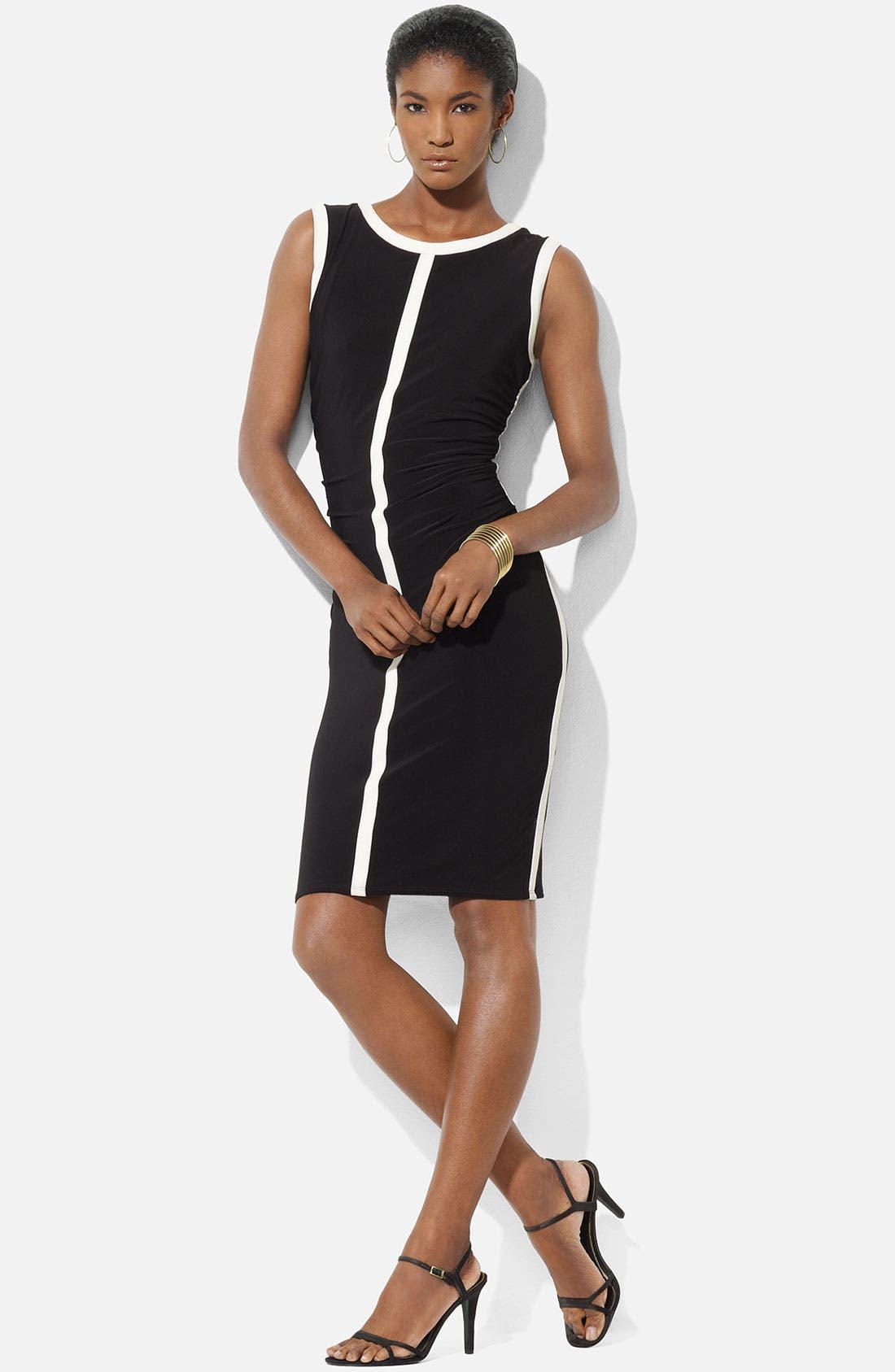 Alternate Image 1 Selected - Lauren Ralph Lauren 'Eras' Jersey Sheath Dress (Petite)
