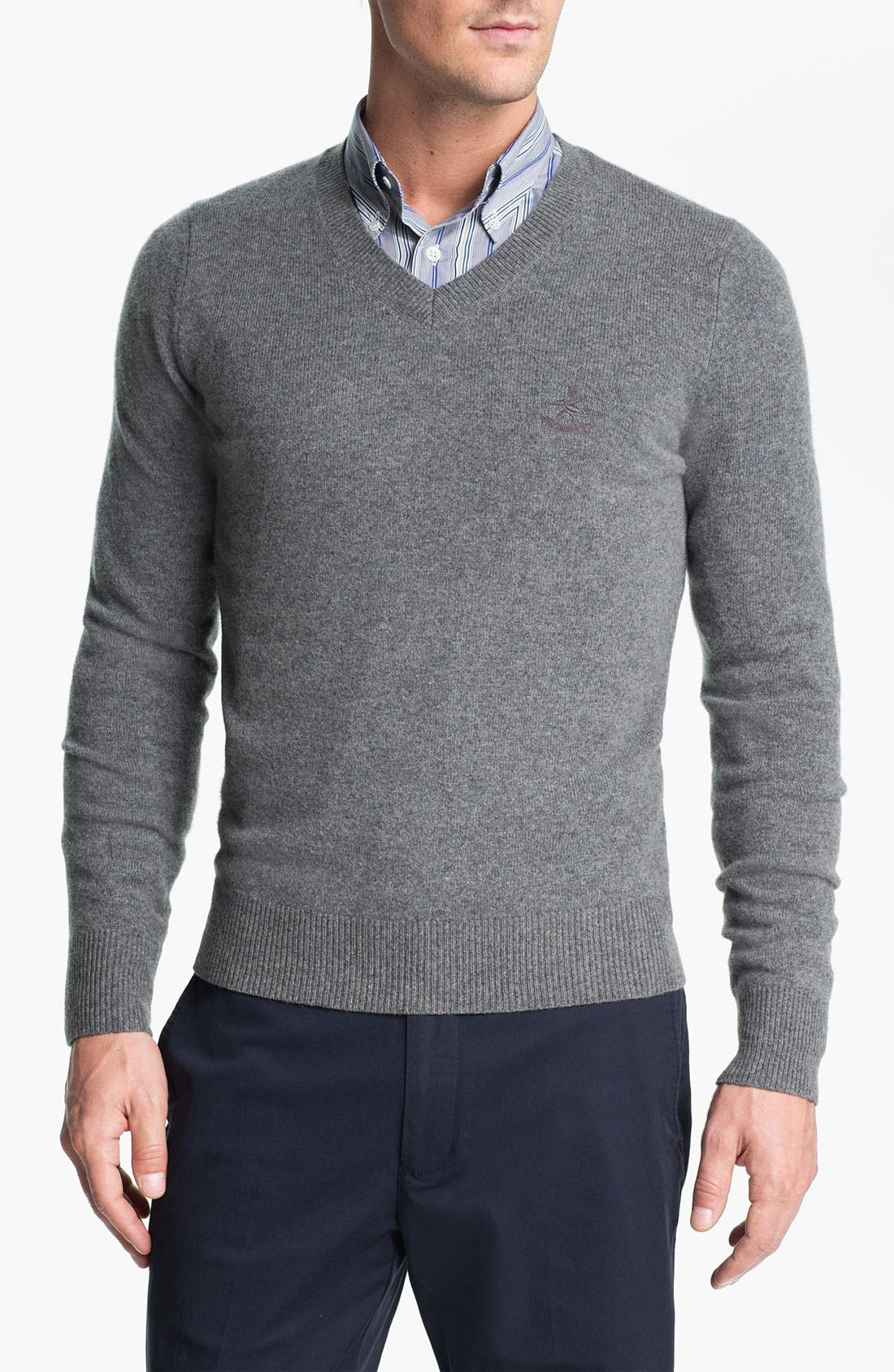Alternate Image 1 Selected - Façonnable V-Neck Wool Sweater