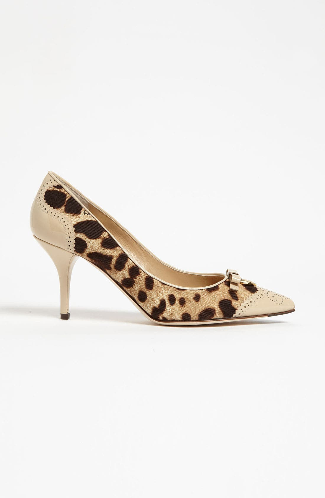 Alternate Image 4  - Dolce&Gabbana Leopard Print Bow Pump
