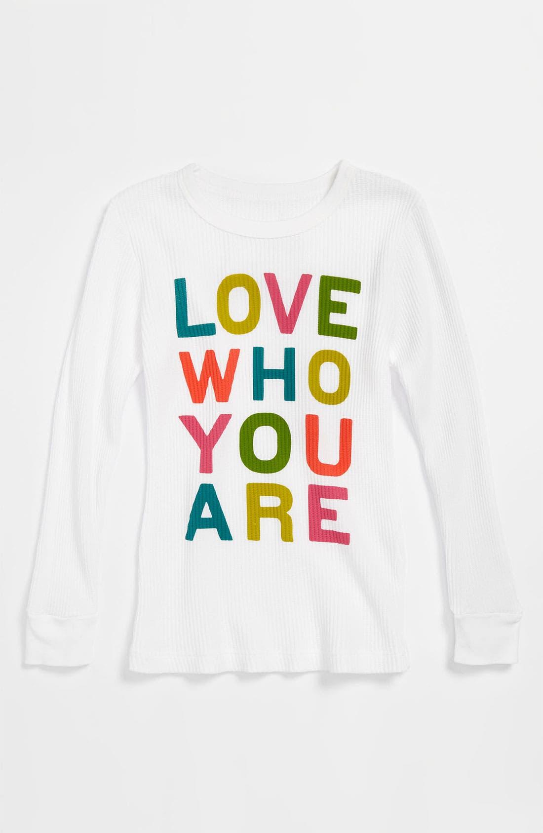 Main Image - Peek 'Love Who You Are' Tee (Toddler, Little Girls & Big Girls)