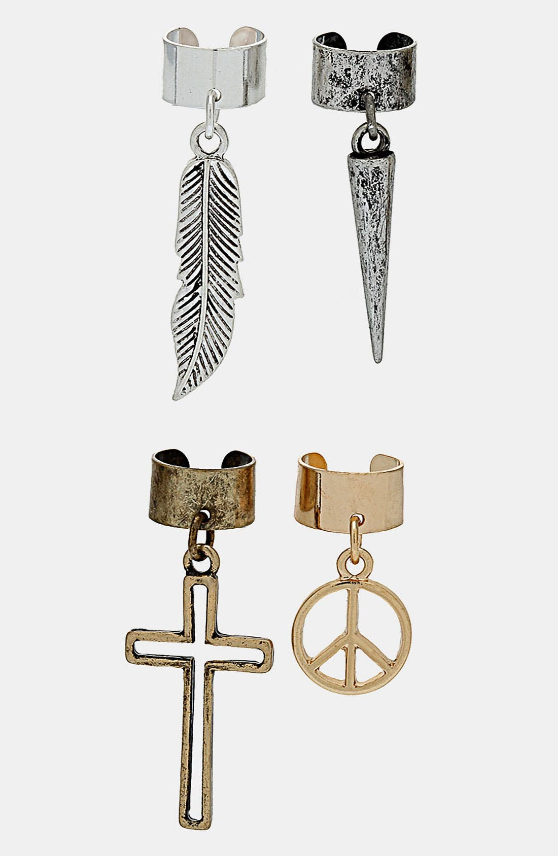 Alternate Image 1 Selected - Topshop Ear Cuffs (Set of 4)