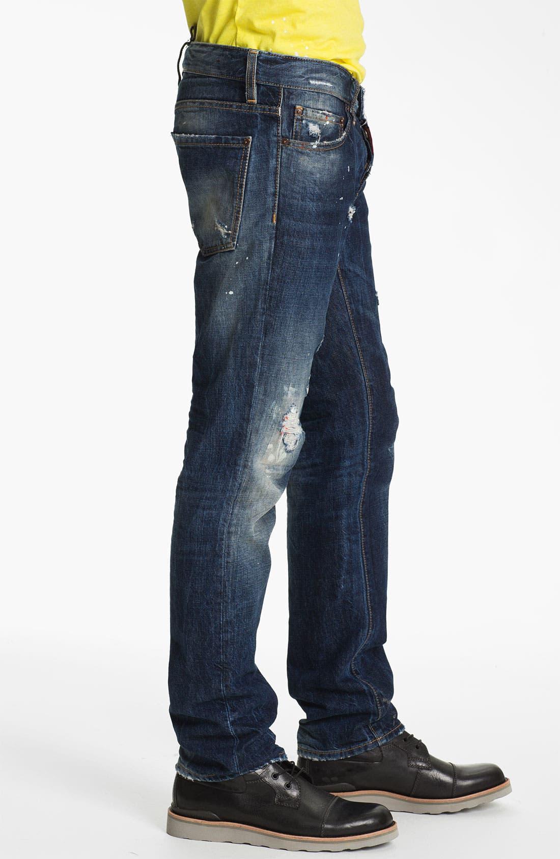 Alternate Image 3  - Dsquared2 Slim Fit Jeans (Distressed Blue)