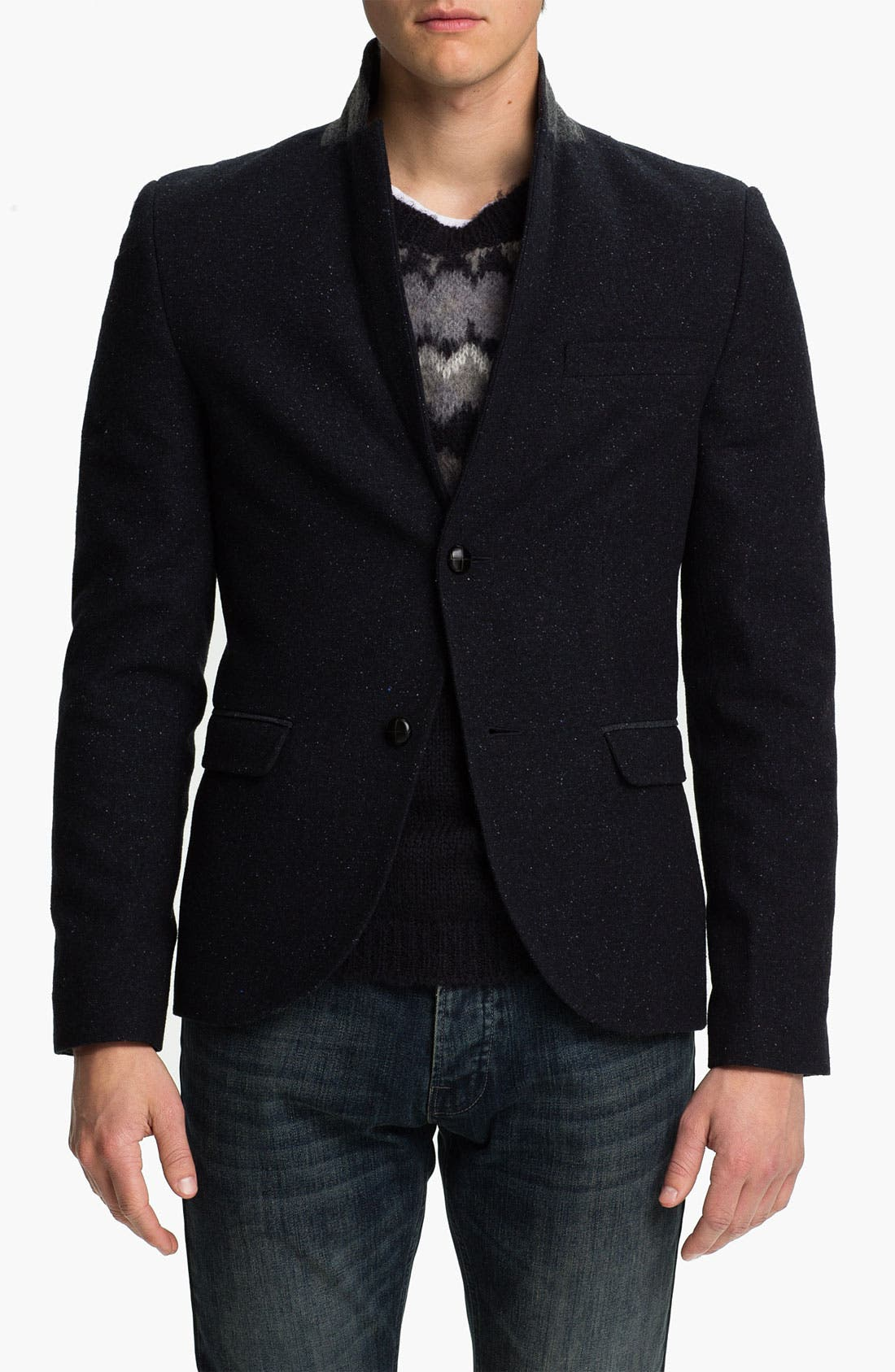 Alternate Image 1 Selected - Topman Fleck Skinny Fit Blazer