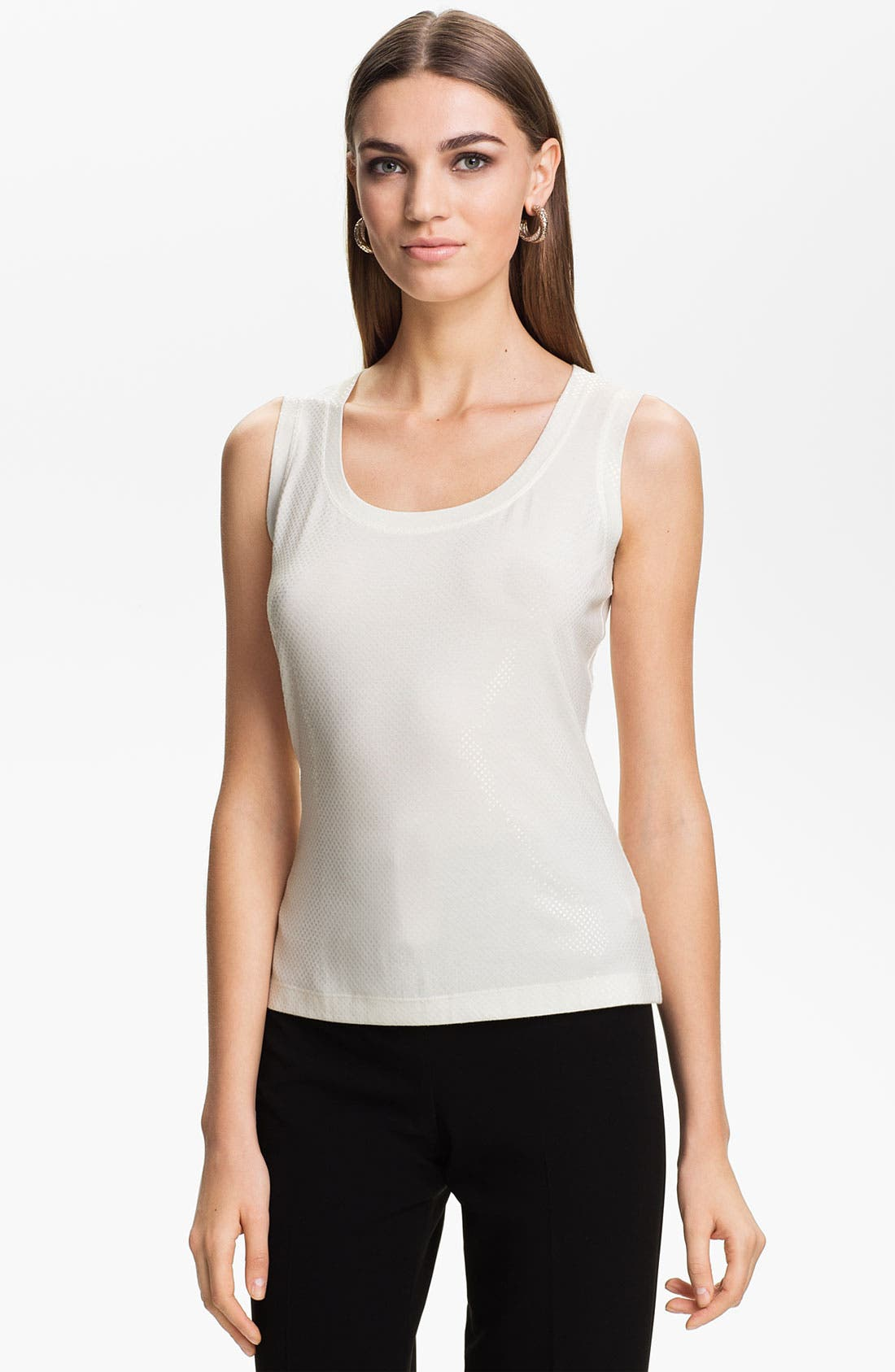 Main Image - St. John Collection Sequin Jersey Tank