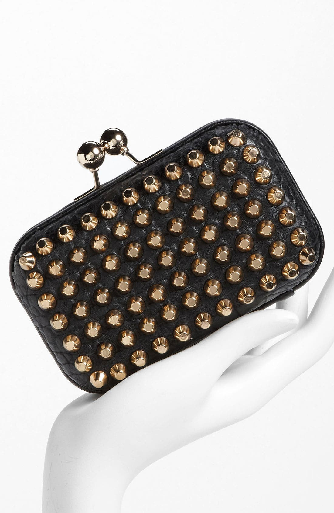 Alternate Image 2  - Street Level Studded Pillbox Clutch