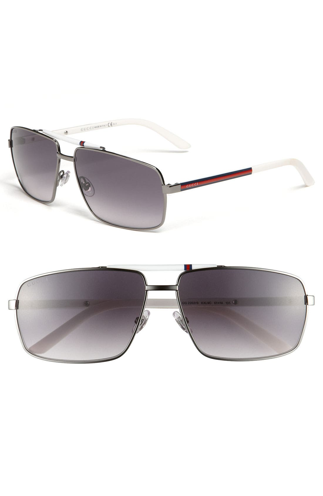 Main Image - Gucci 61mm Metal Sunglasses