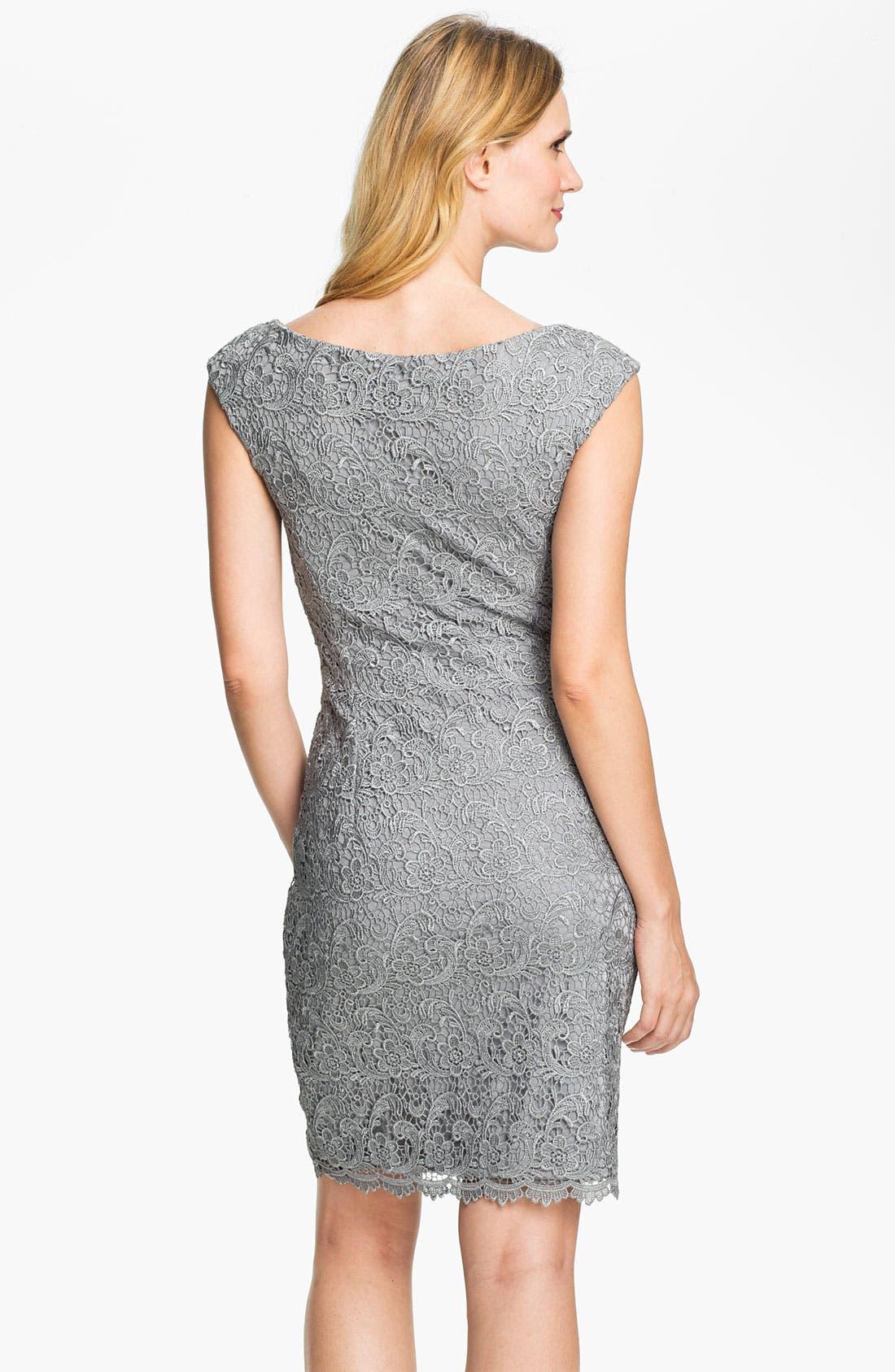 Alternate Image 2  - Maggy London Venice Lace Sheath Dress