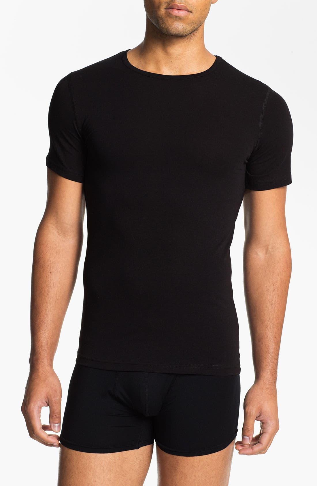 Alternate Image 1 Selected - Naked Crewneck Cotton Undershirt