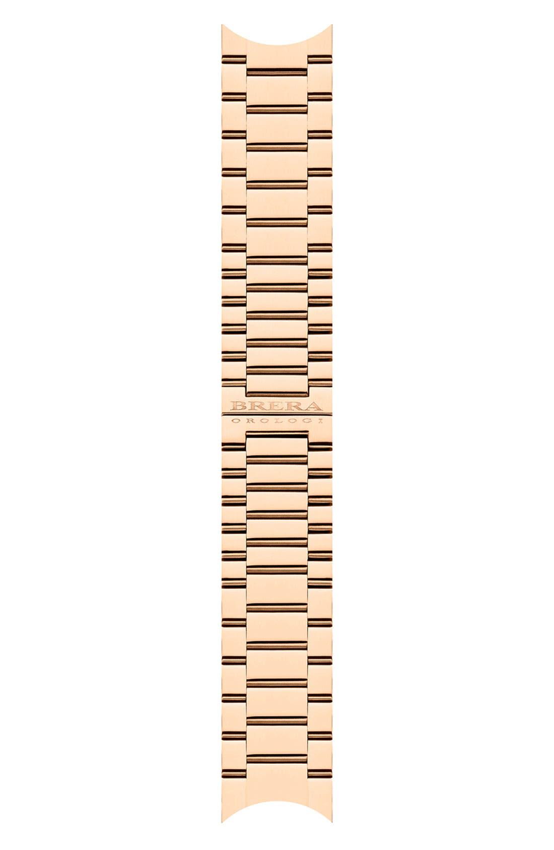 Alternate Image 1 Selected - Brera 'Isabella' 22mm Rose Gold Watch Bracelet