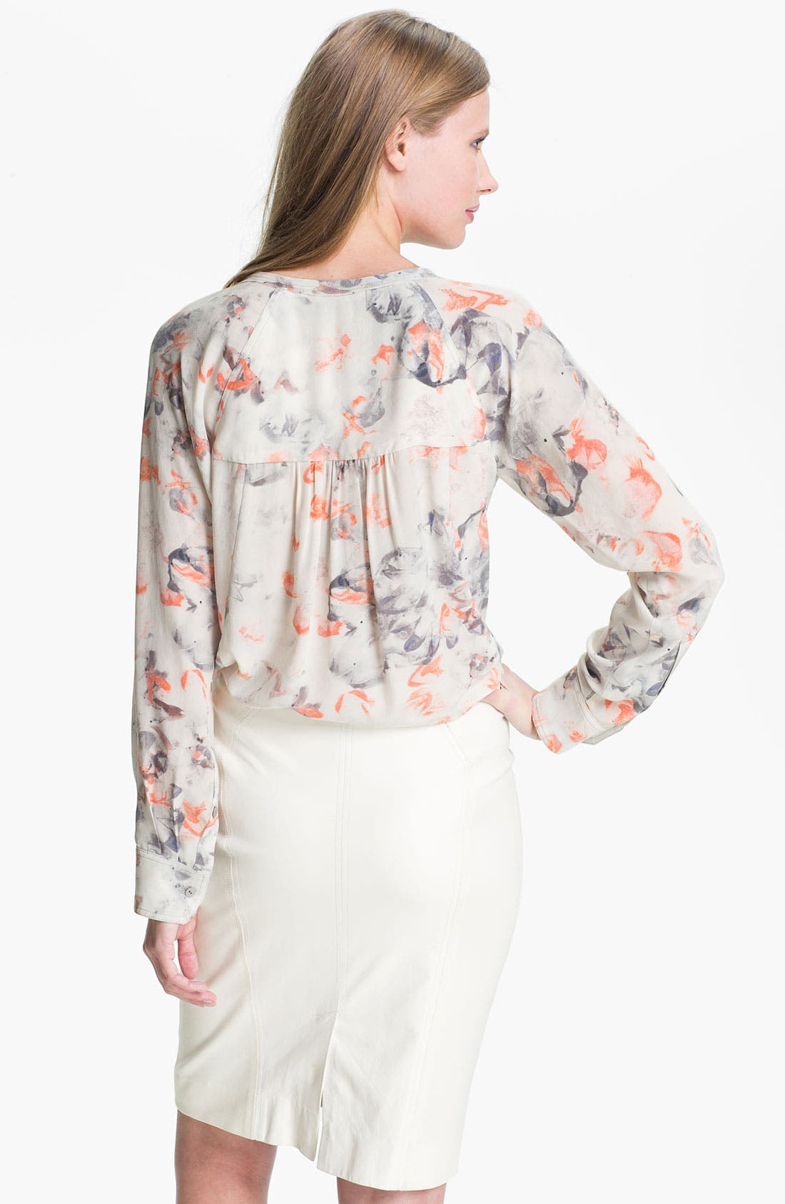 Alternate Image 2  - Rebecca Taylor 'Misty Garden' Silk Blouse