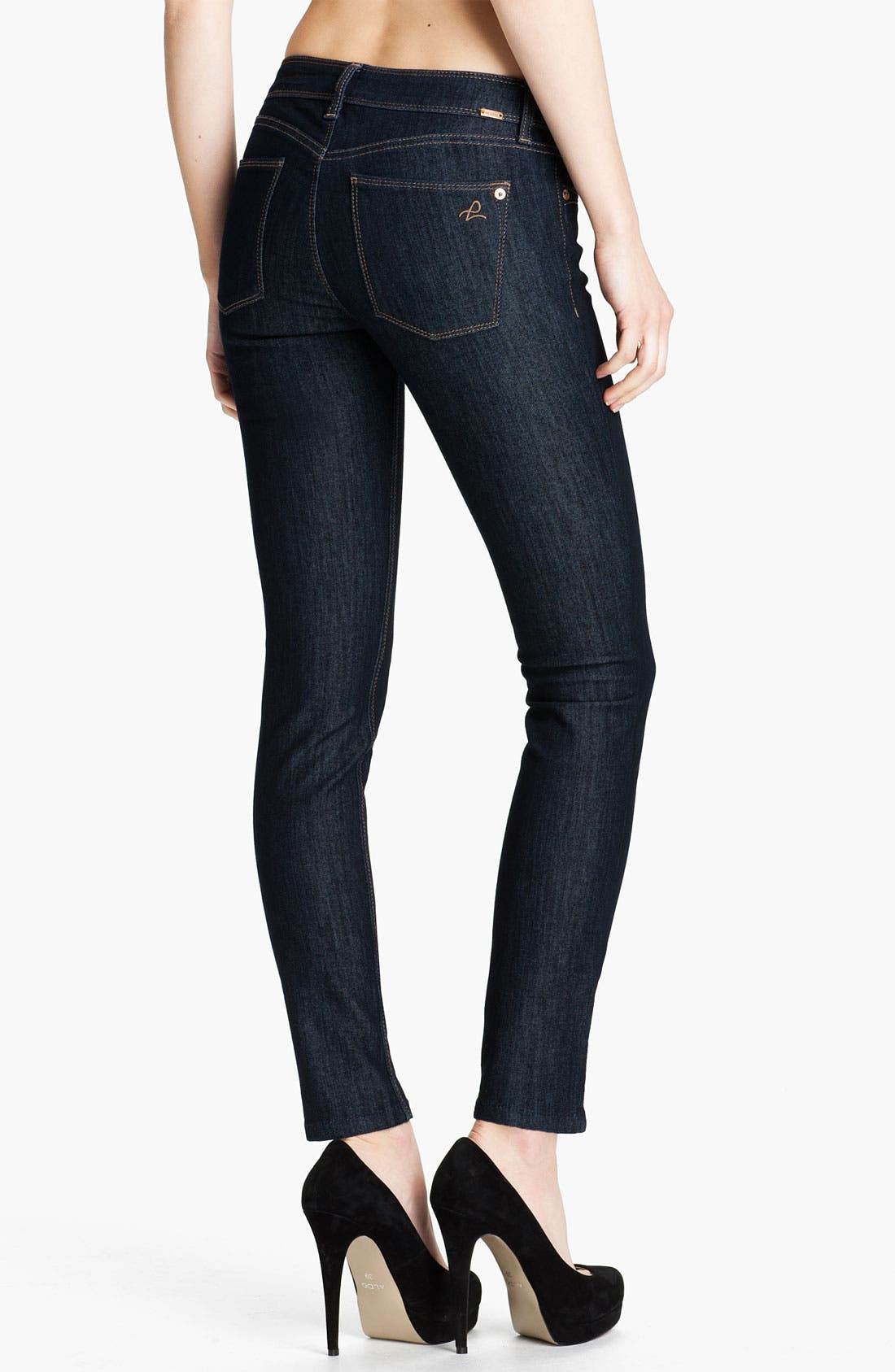 Alternate Image 2  - DL1961 'Angel' Skinny Ankle Jeans (Crush)