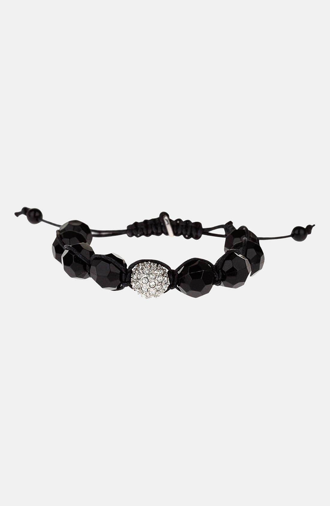 Main Image - Topman Beaded Adjustable Cord Bracelet