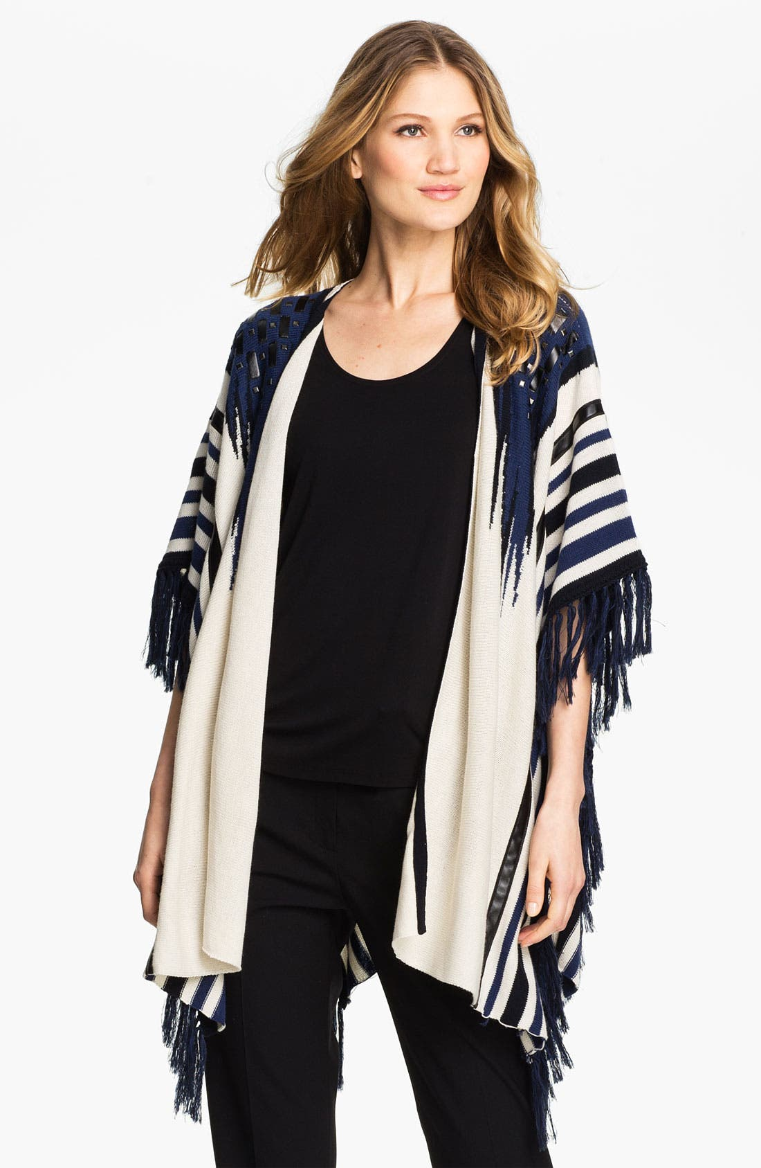 Alternate Image 1 Selected - Alberto Makali Fringed Cardigan