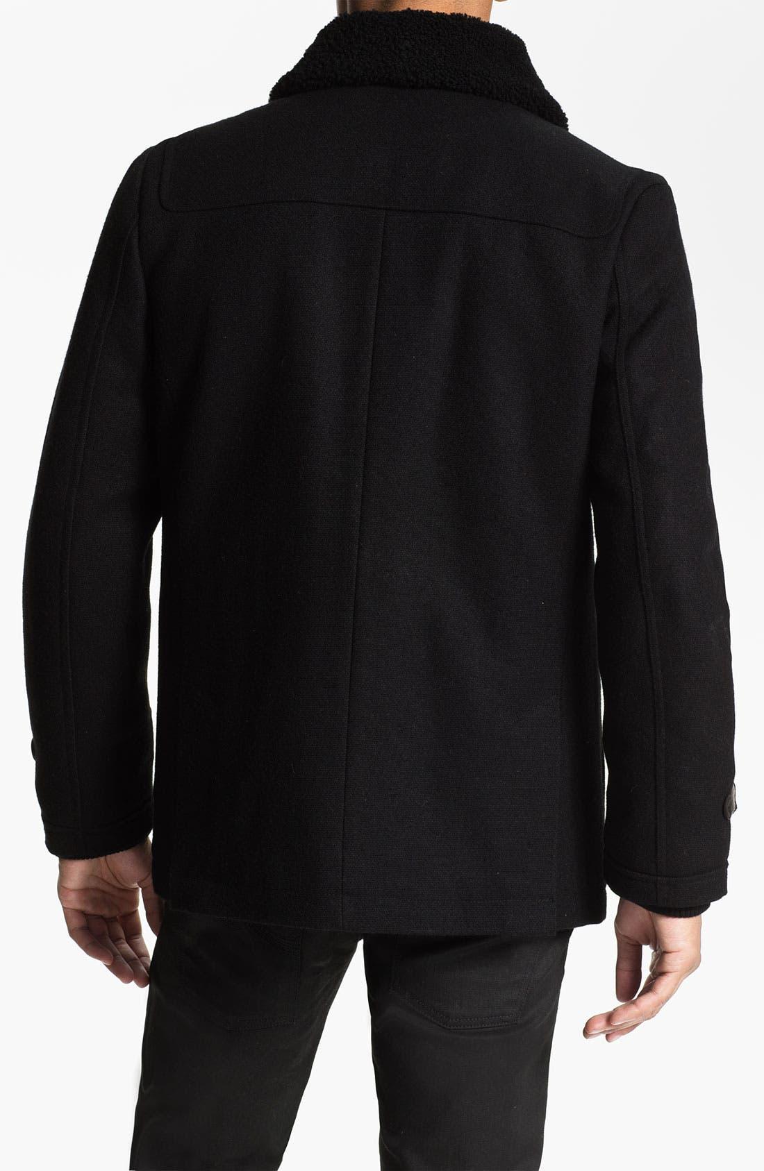 Alternate Image 2  - PLECTRUM by Ben Sherman Shearling Collar Field Jacket