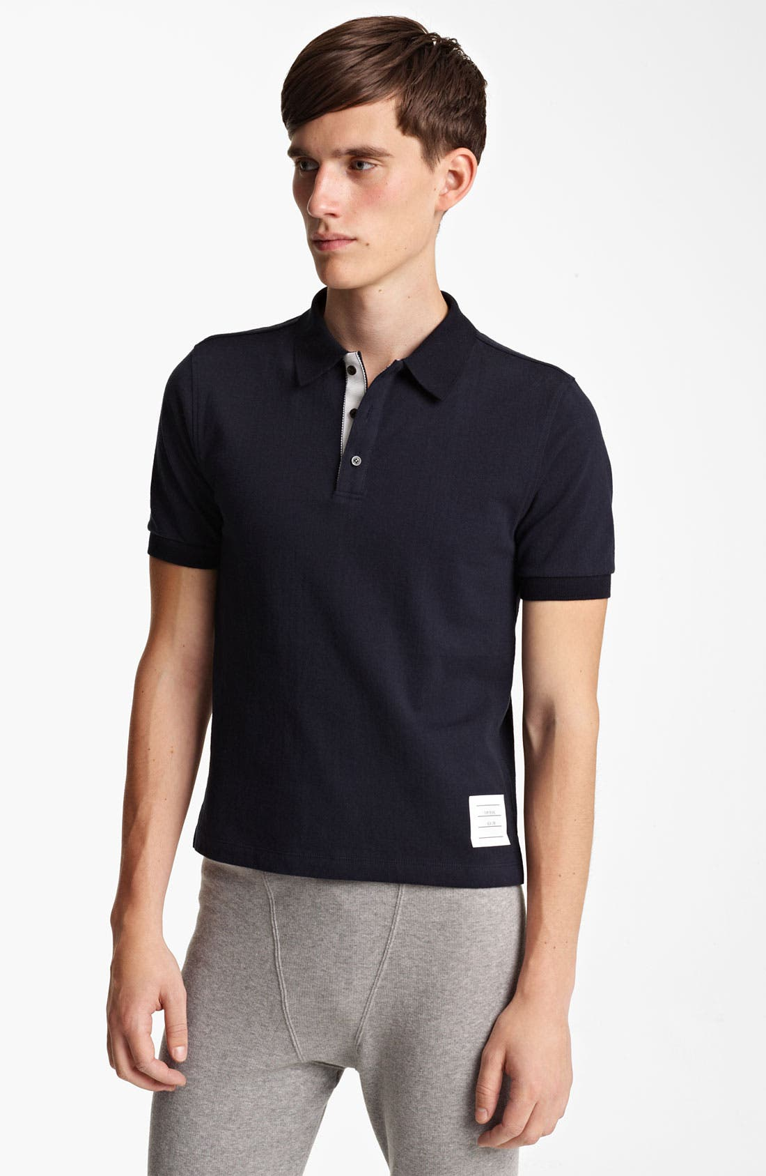 Main Image - Thom Browne Cotton Jersey Polo