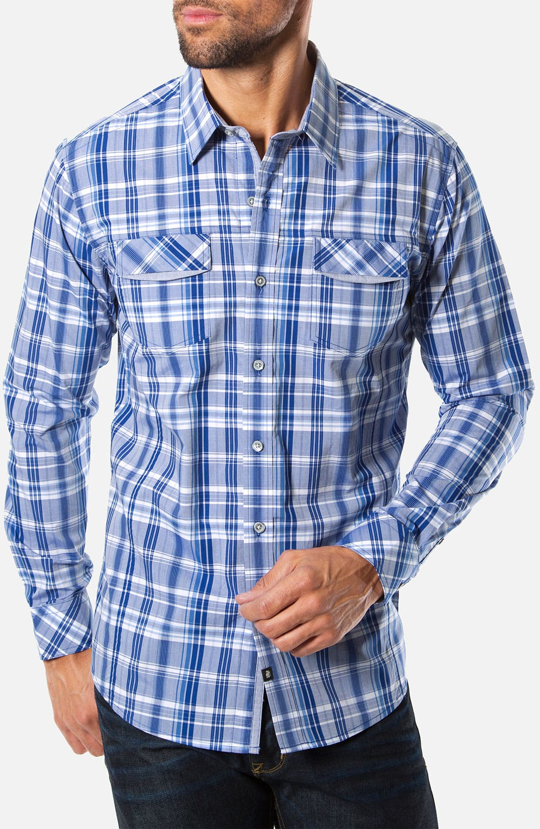 Alternate Image 1 Selected - 7 Diamonds 'Right As Rain' Woven Sport Shirt