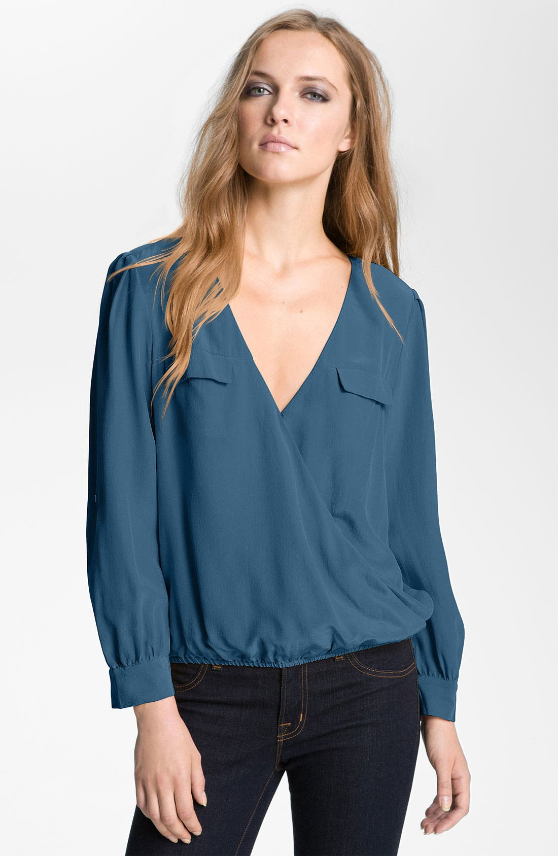 Alternate Image 1 Selected - Joie 'Istanbul' Surplice Silk Blouse