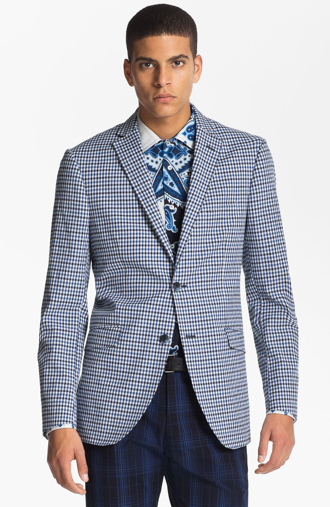 Alternate Image 1 Selected - Etro 'Minerva' Gingham Blazer