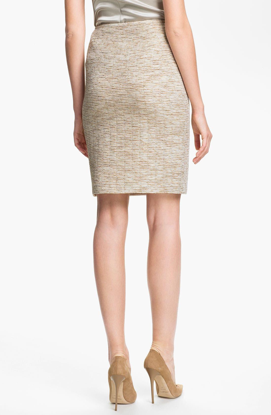 Alternate Image 3  - St. John Collection Shimmer Knit Pencil Skirt