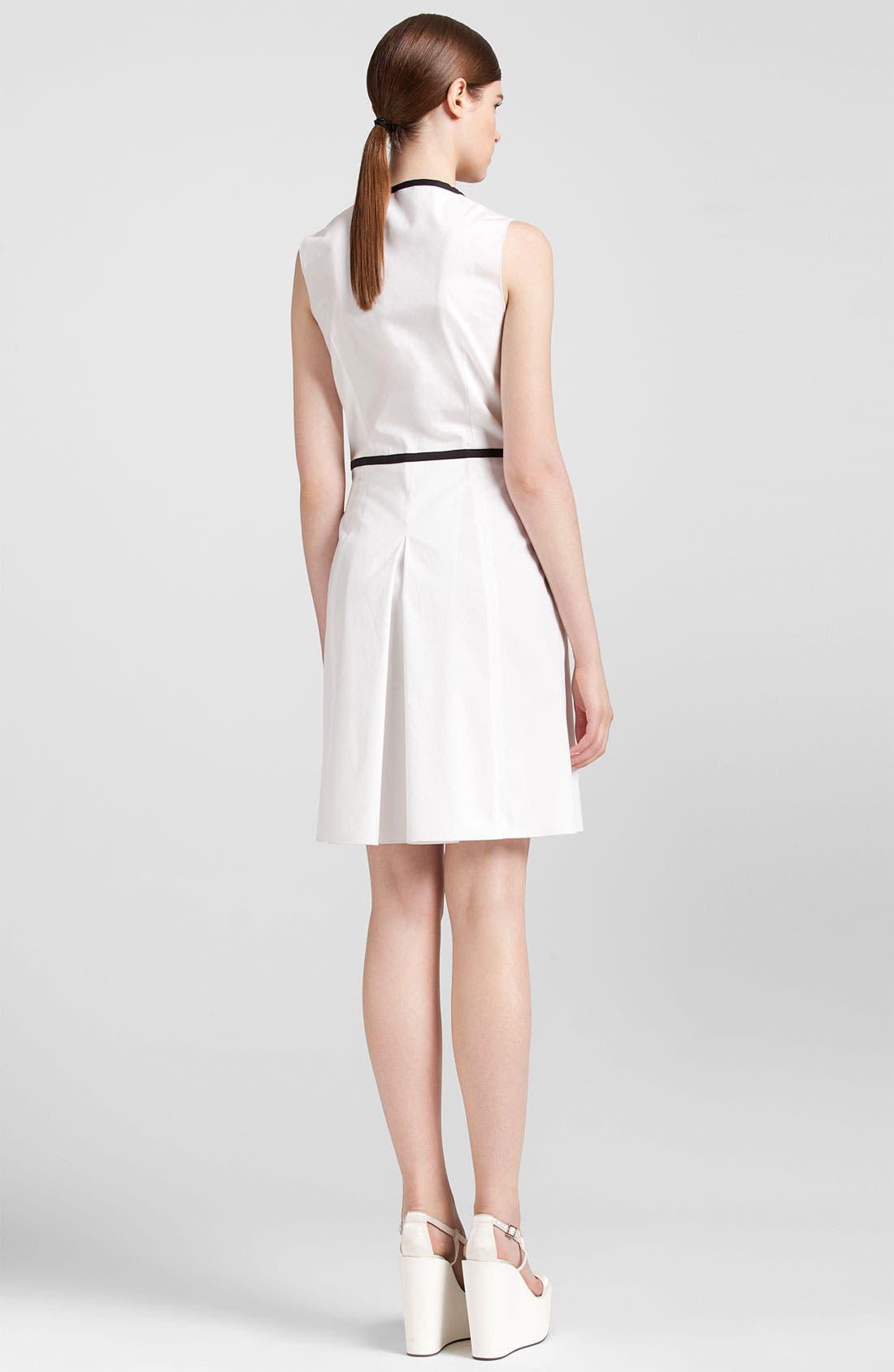 Alternate Image 3  - Jil Sander Navy Black Trim Stretch Cotton Dress