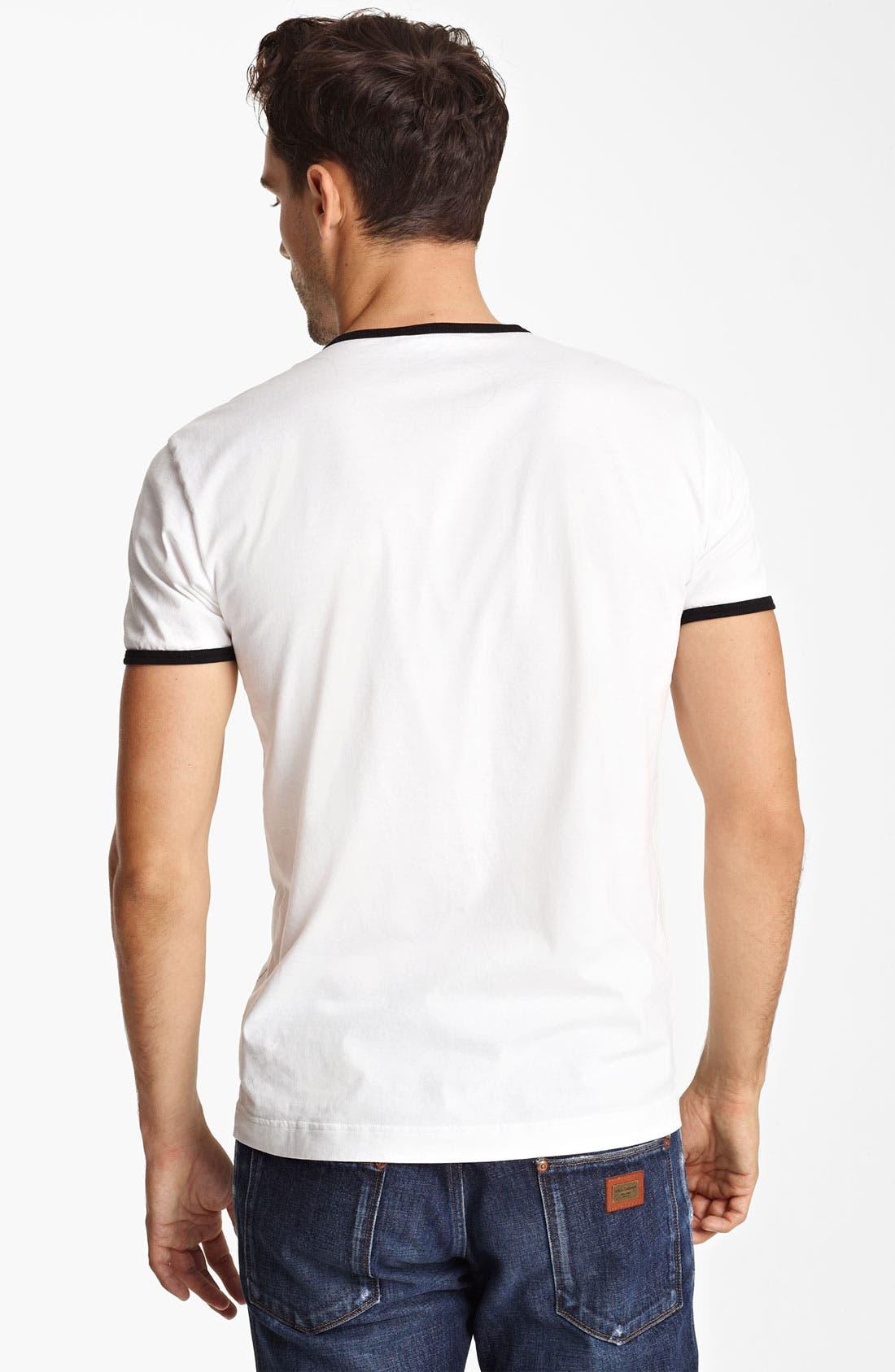 Alternate Image 2  - Dolce&Gabbana 'Rolling Stone' Ringer T-Shirt