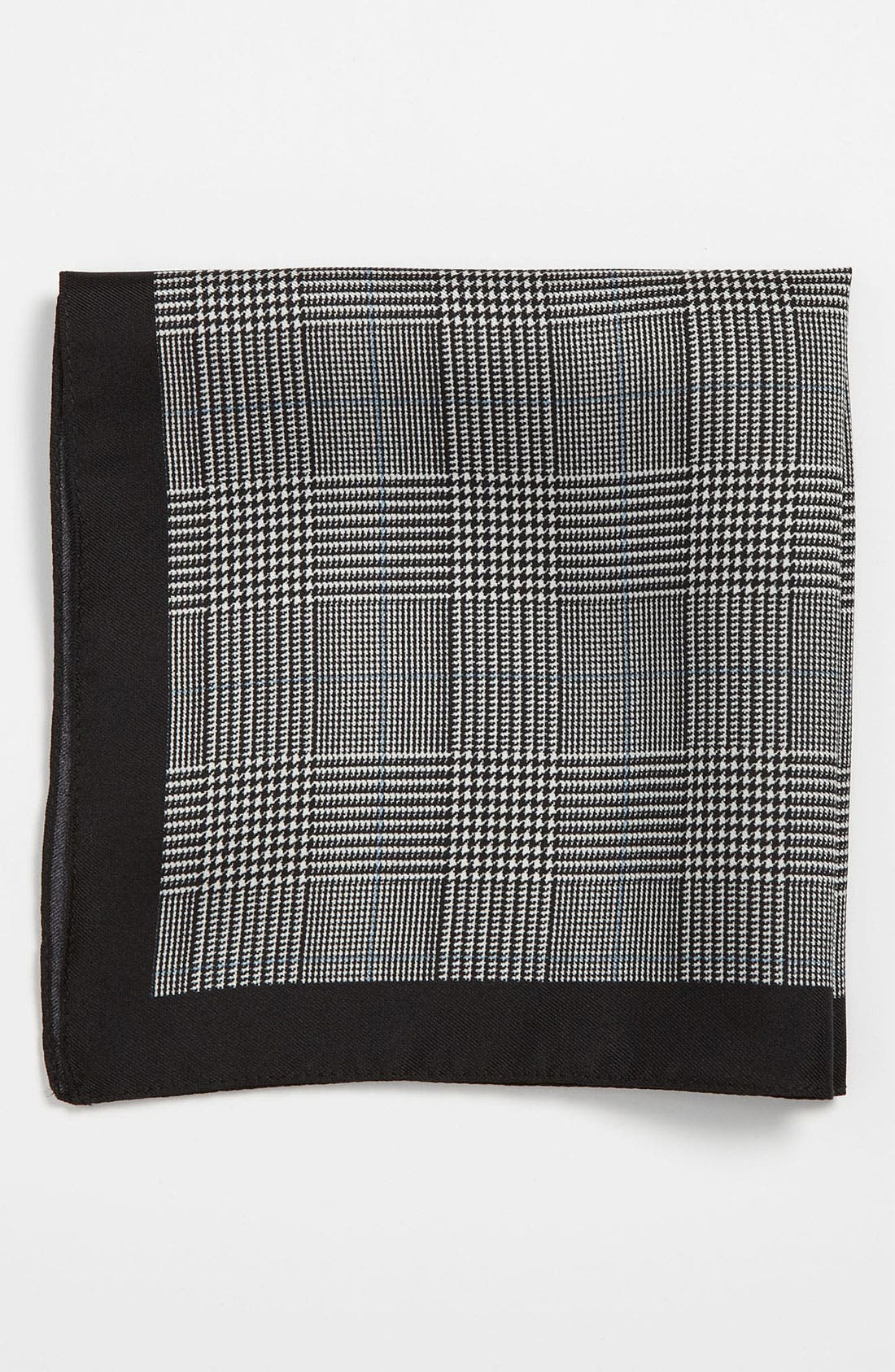Alternate Image 1 Selected - BOSS Black Silk Pocket Square