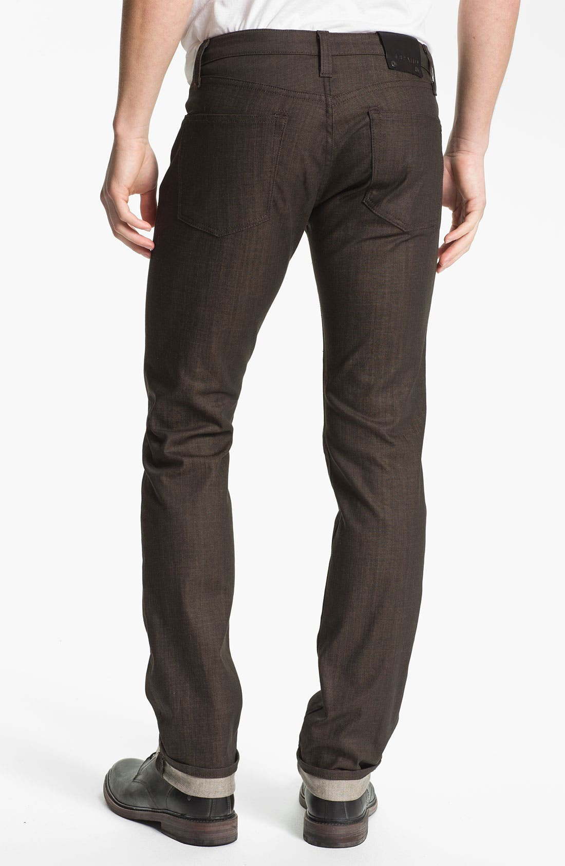 Alternate Image 1 Selected - J Brand 'Kane' Slim Straight Leg Jeans (Flex Raw Scotch)