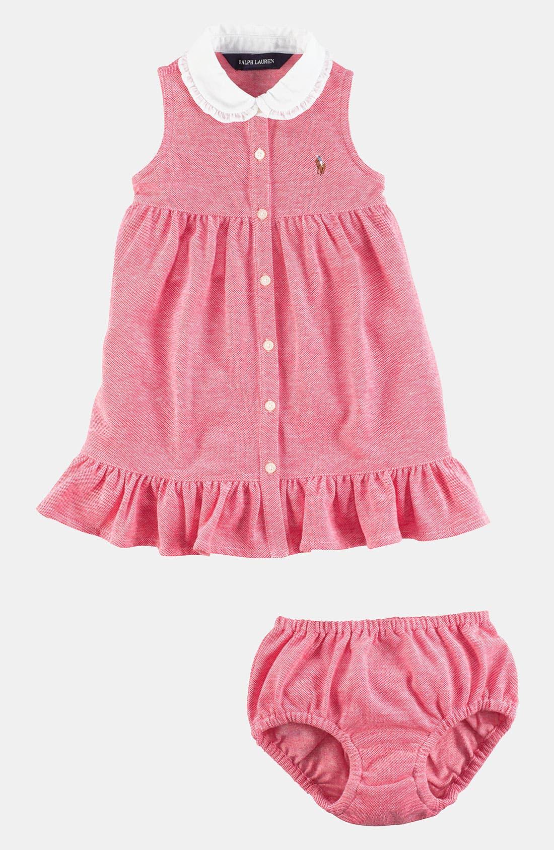 Alternate Image 2  - Ralph Lauren Oxford Dress (Infant)